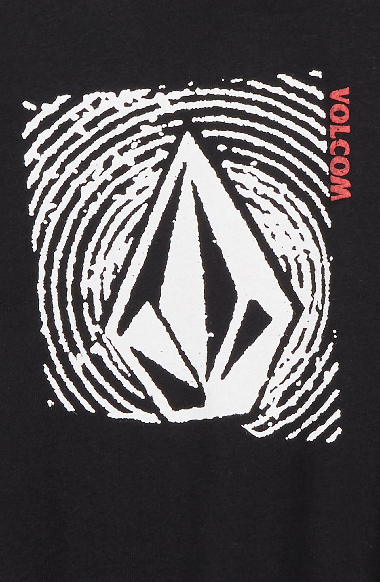 VOLCOM,                             Stonar Waves Logo T-Shirt,                             Alternate thumbnail 3, color,                             001