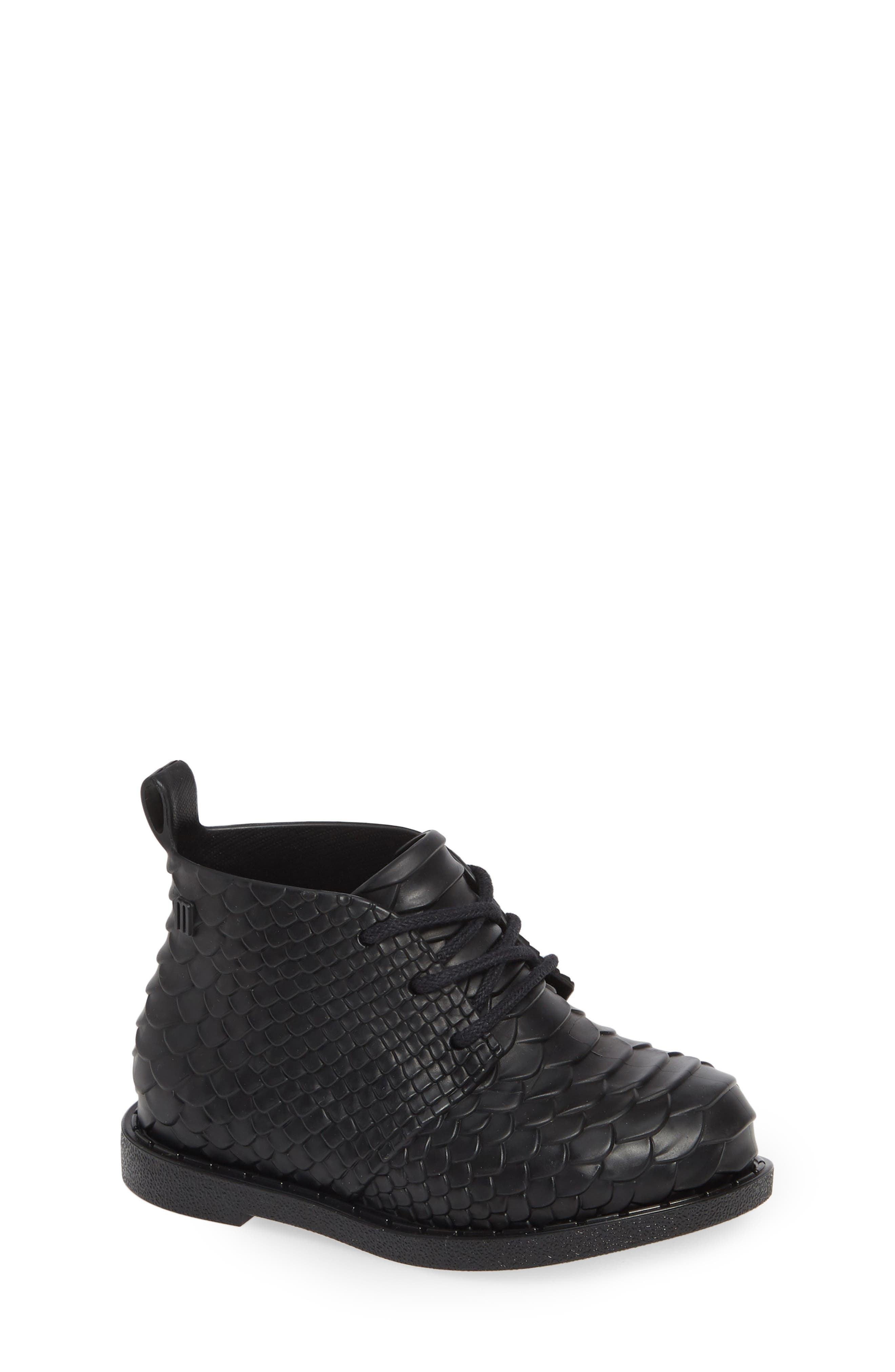 Python Textured Water Resistant Bootie,                             Main thumbnail 1, color,                             BLACK