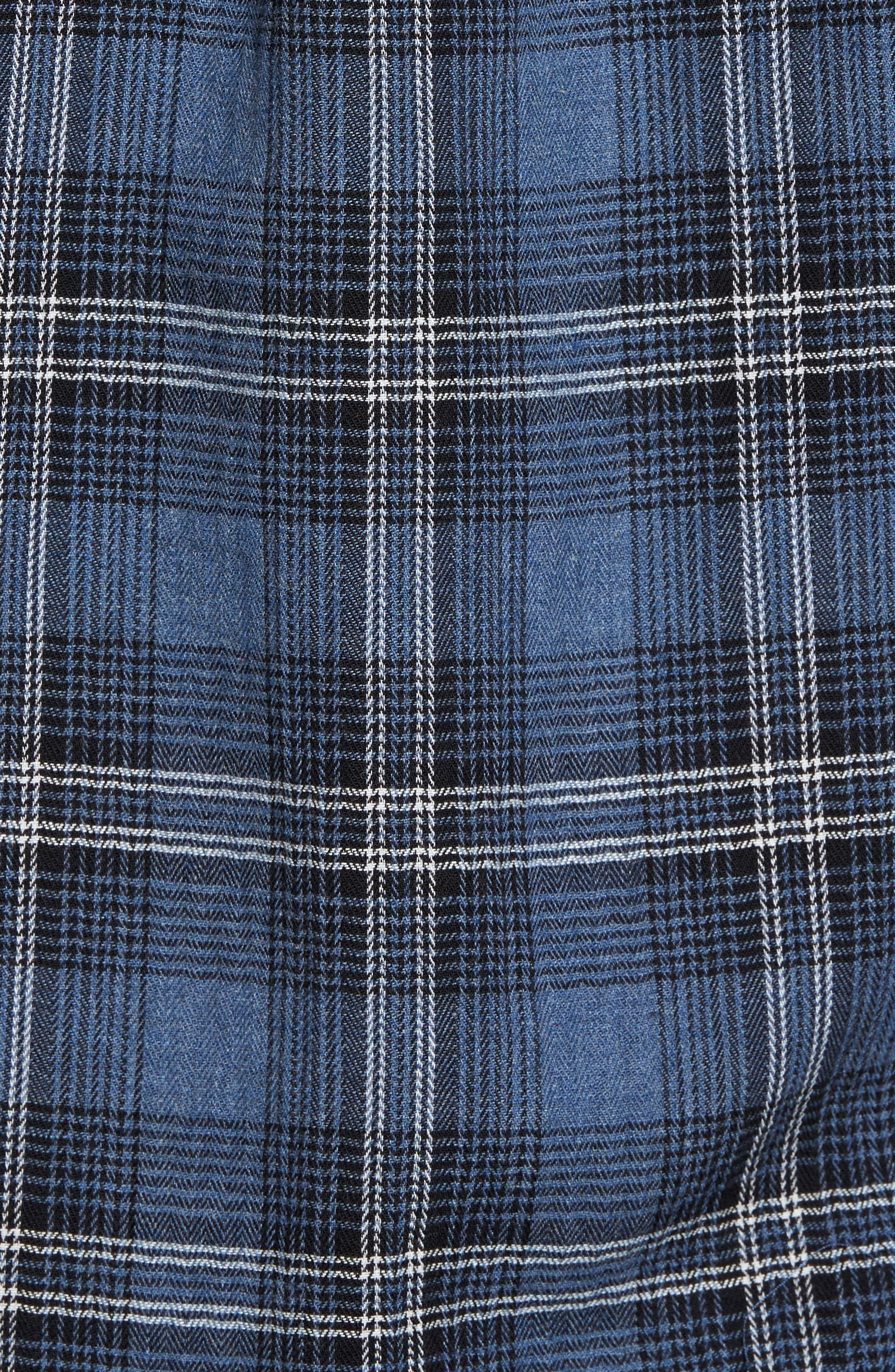 Truman Slim Fit Herringbone Twill Sport Shirt,                             Alternate thumbnail 5, color,