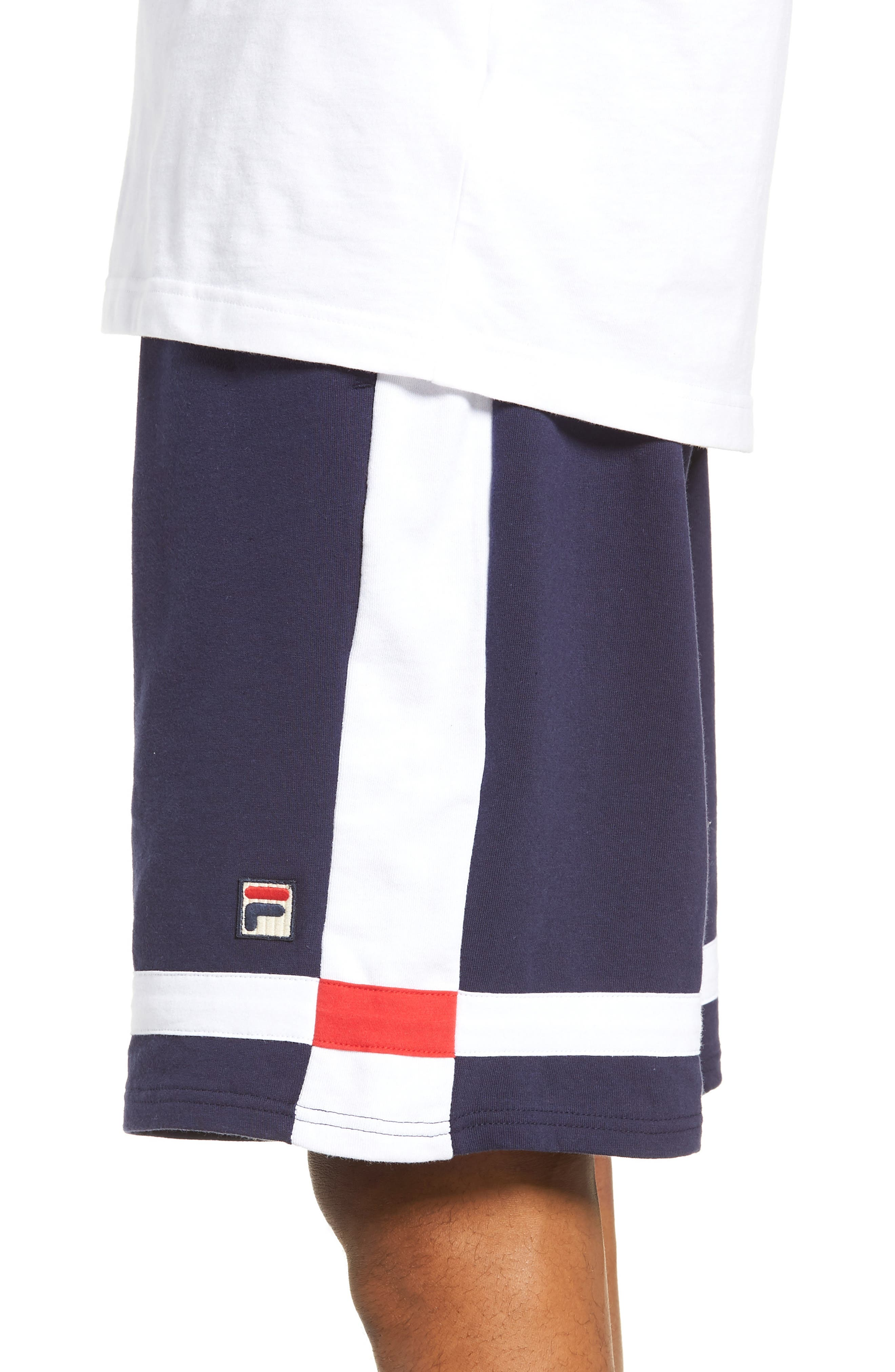Striped Athletic Shorts,                             Alternate thumbnail 3, color,                             410