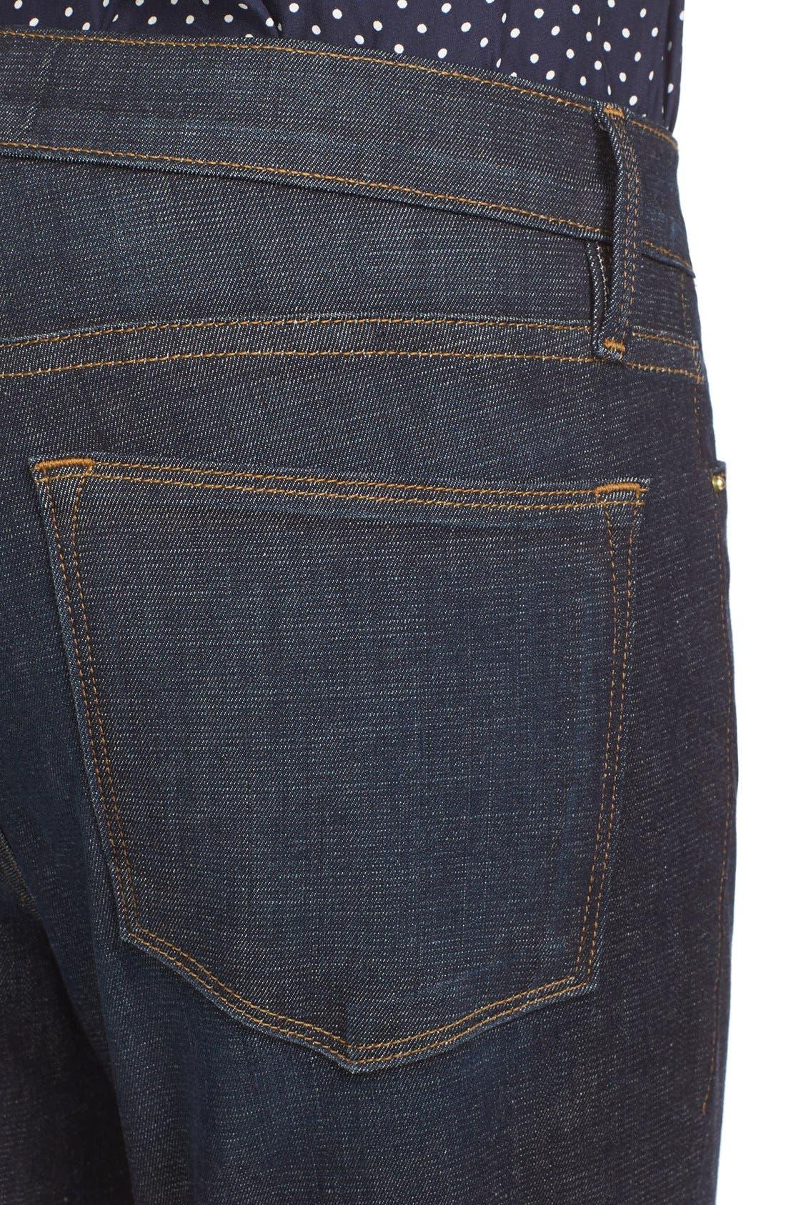 High Waist Skinny Jeans,                             Alternate thumbnail 4, color,                             SALTAIR