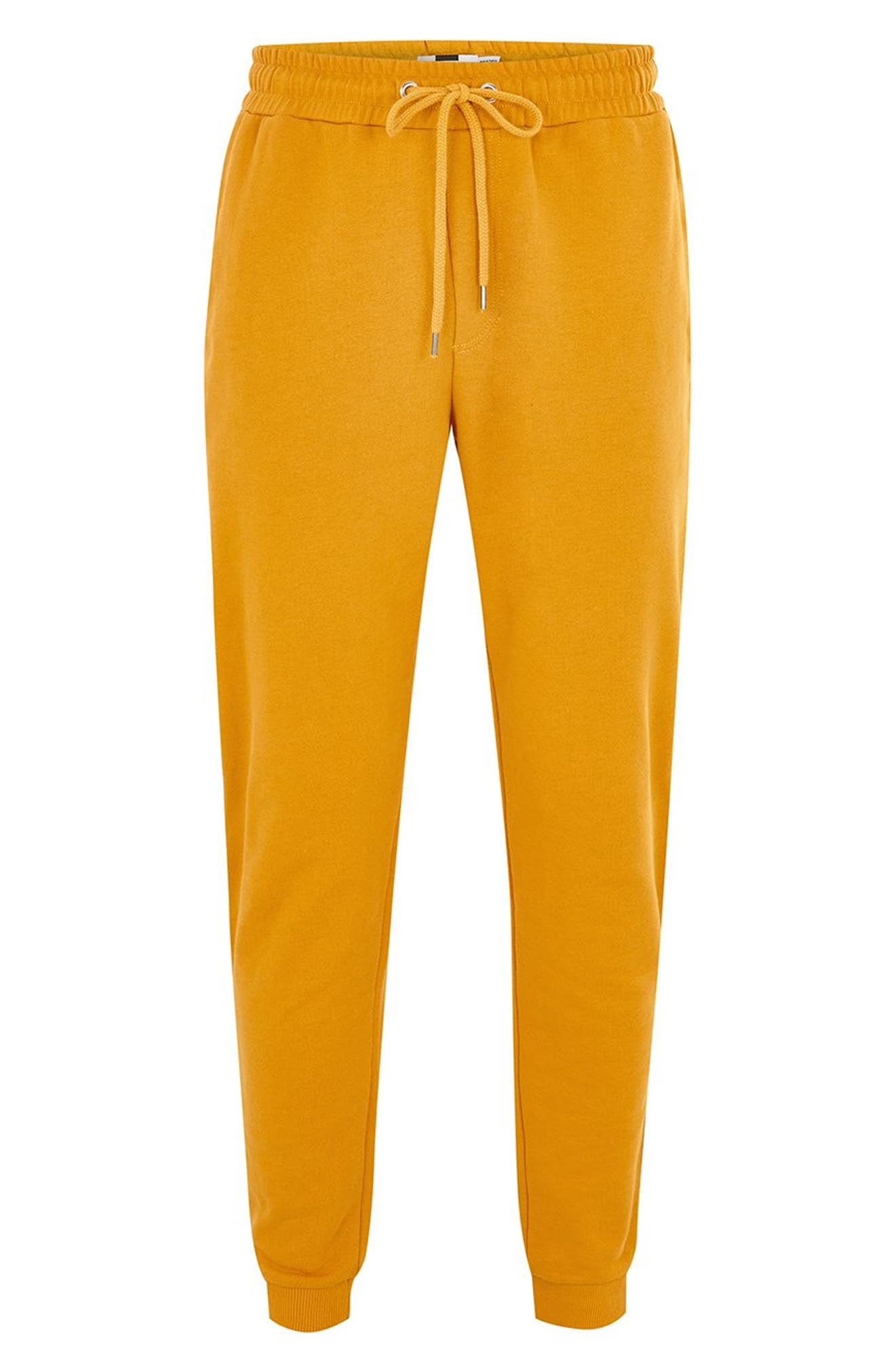 Classic Fit Side Tape Joggers,                             Alternate thumbnail 4, color,                             YELLOW MULTI