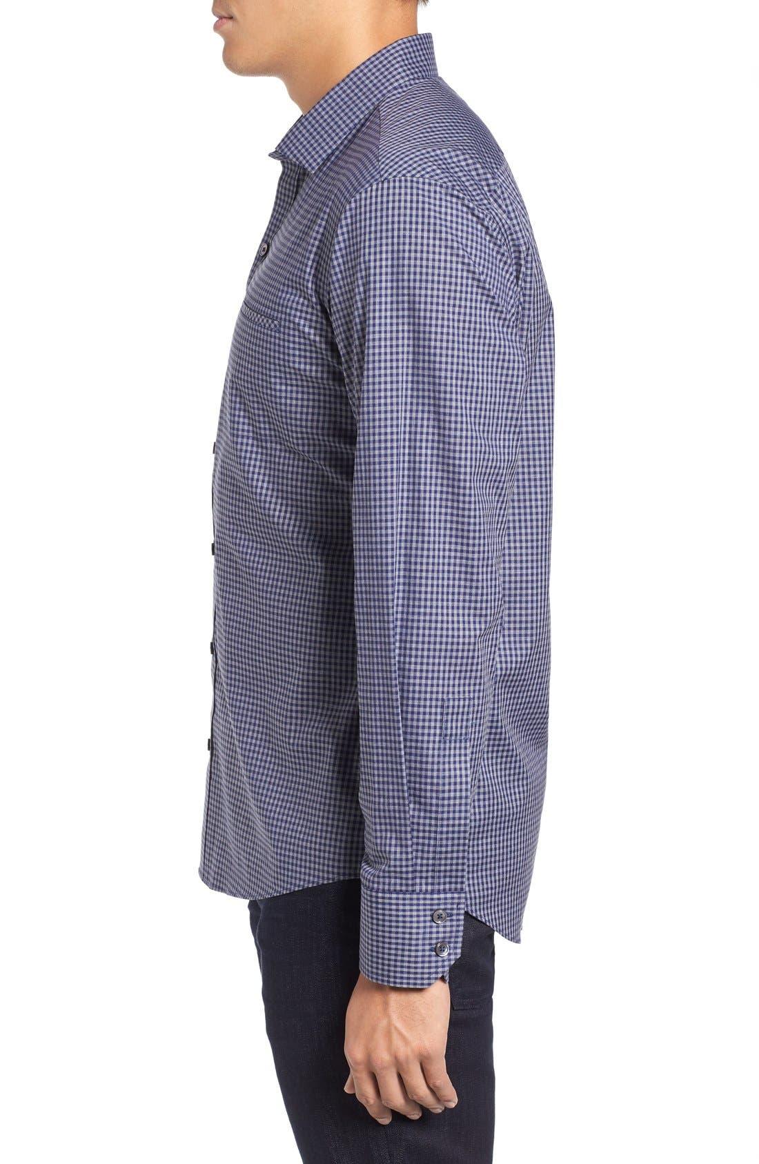 Fitzpatrick Trim Fit Sport Shirt,                             Alternate thumbnail 3, color,                             400