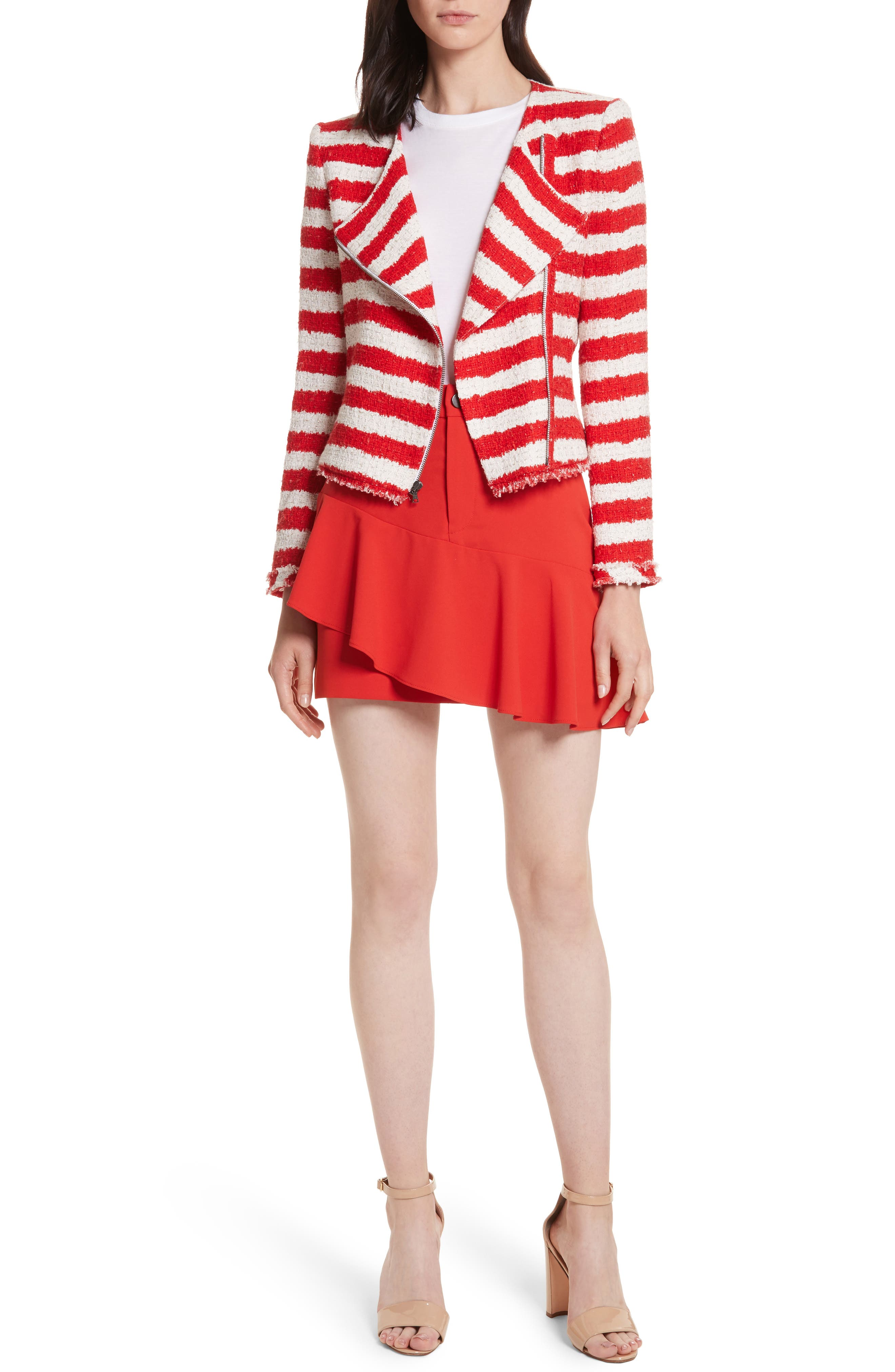 Stanton Stripe Tweed Jacket,                             Alternate thumbnail 7, color,