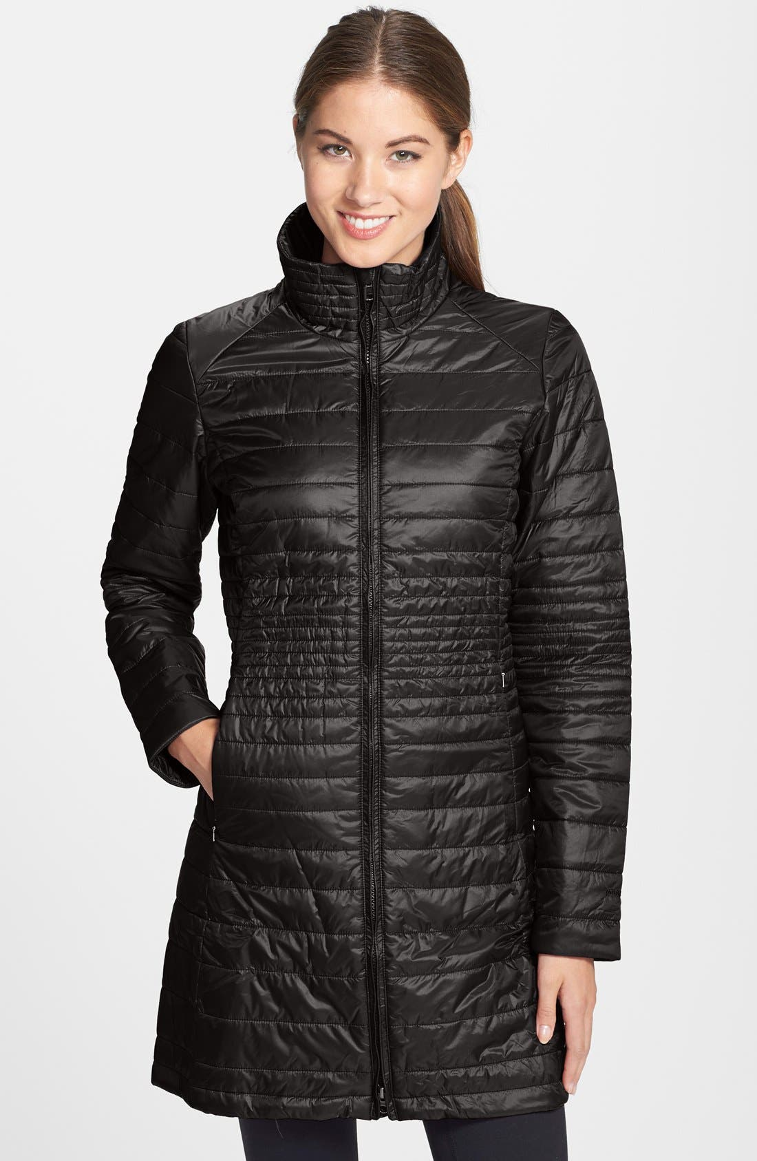 'Kai Lee' Quilted Parka, Main, color, 001