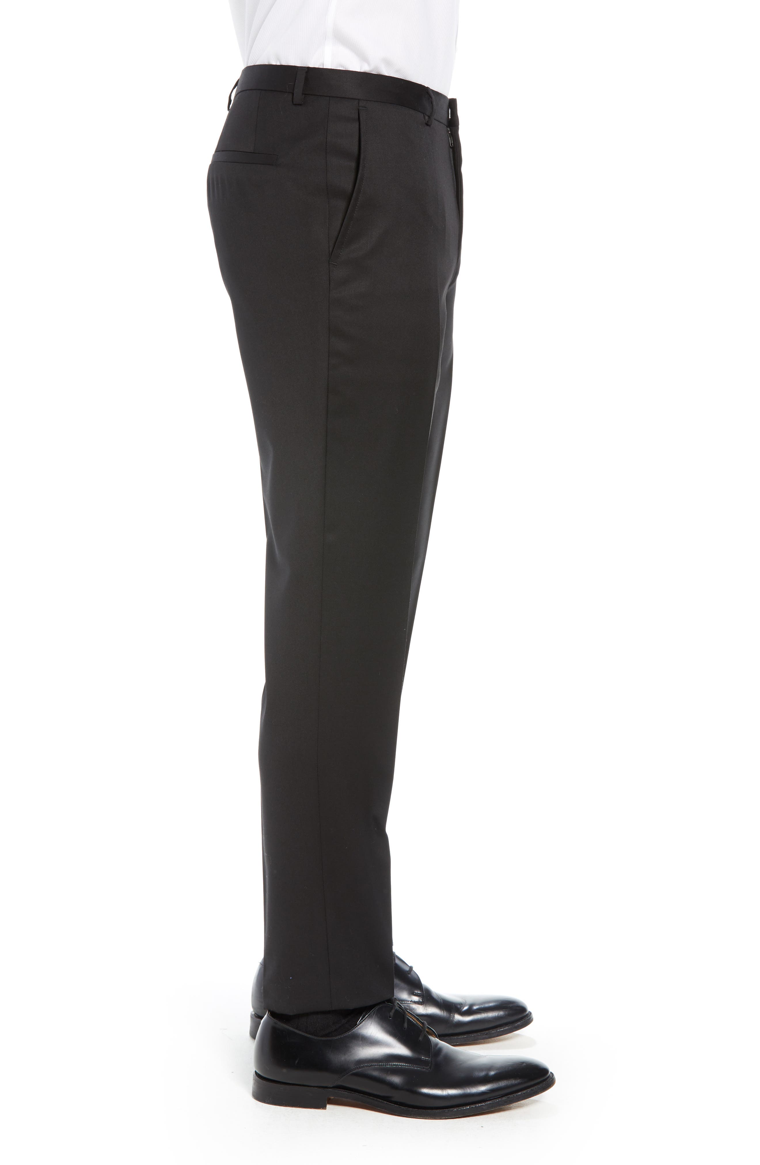 Hartley Extra Slim Trousers,                             Alternate thumbnail 3, color,                             BLACK
