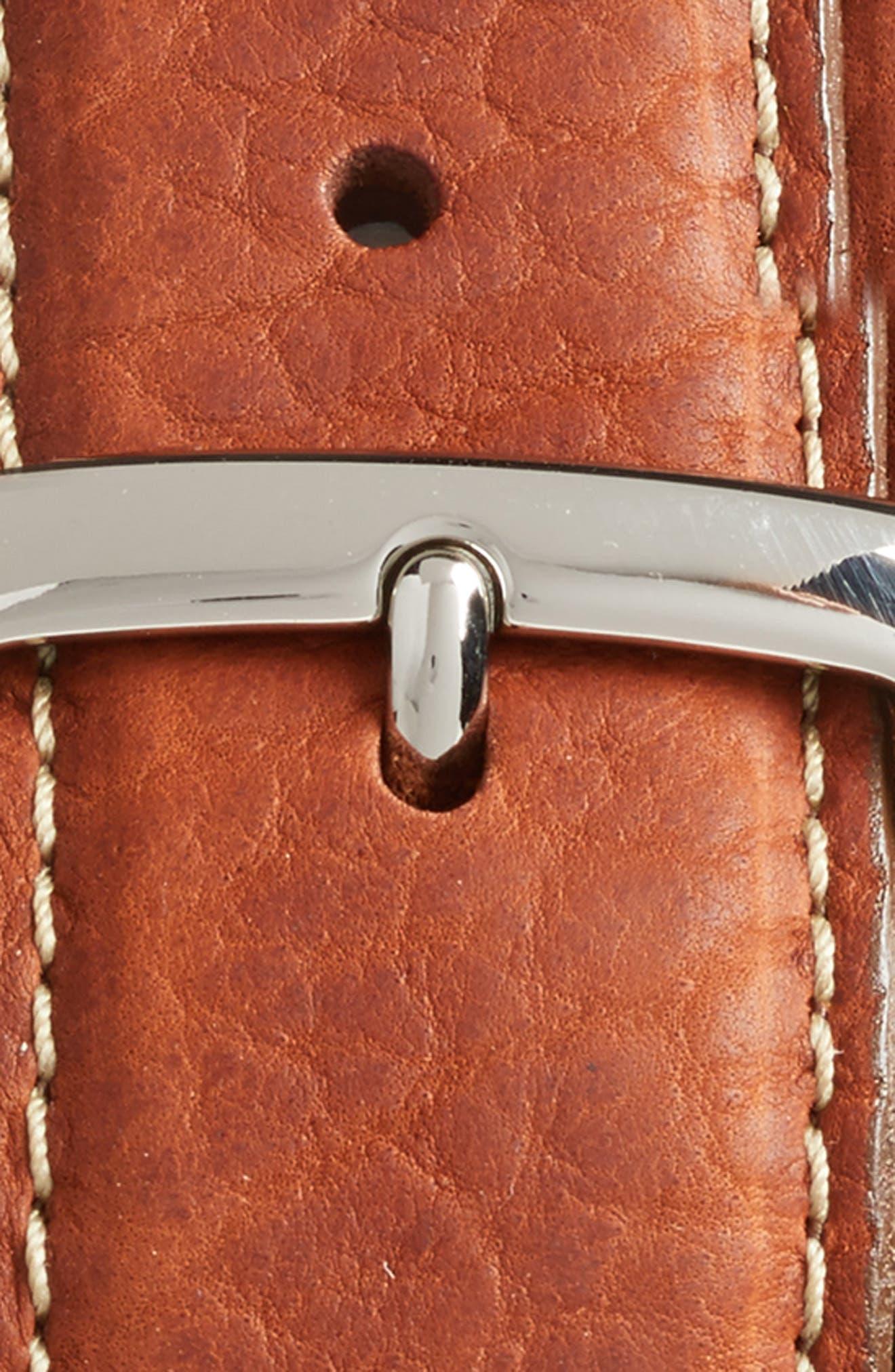 Leather Belt,                             Alternate thumbnail 2, color,                             TAN BROWN