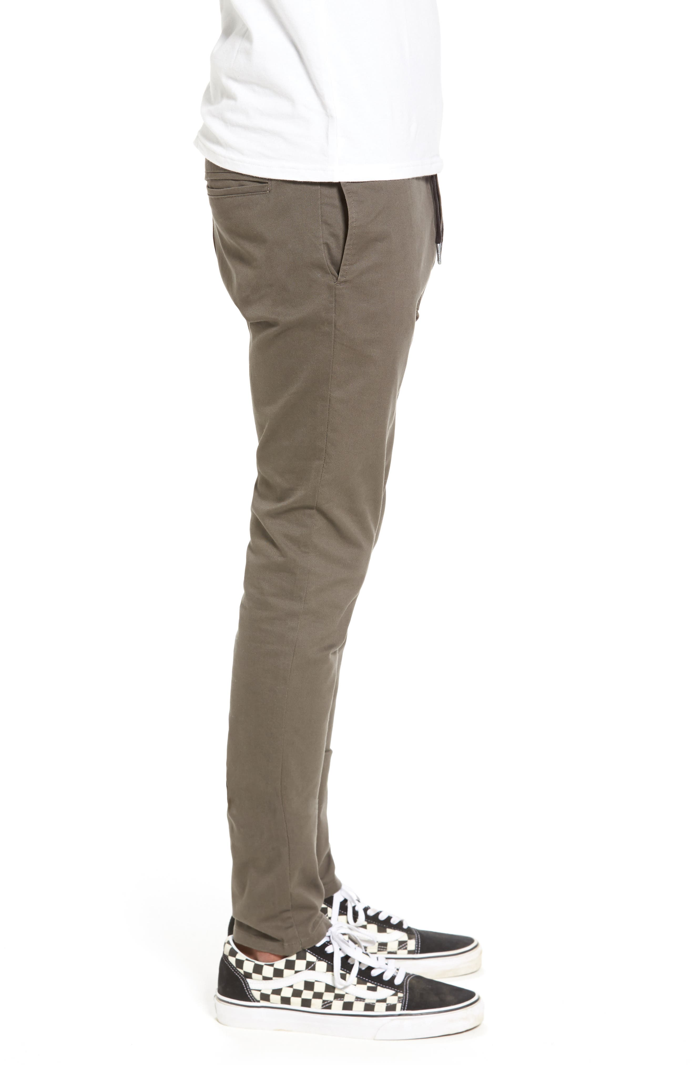 Salerno Stretch Woven Jogger Pants,                             Alternate thumbnail 3, color,                             PEAT