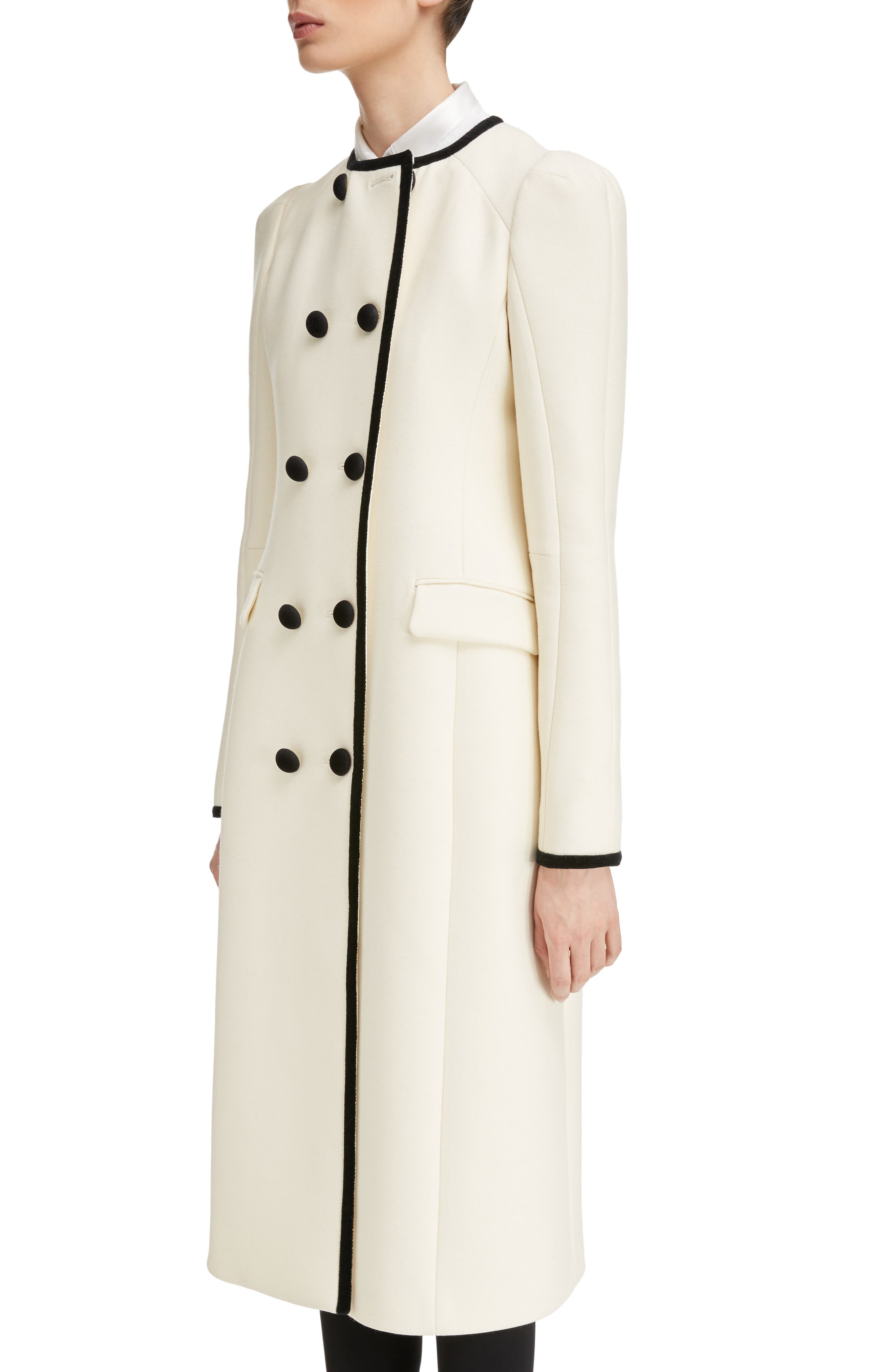 Bellasio Double Breasted Wool Coat,                             Alternate thumbnail 4, color,