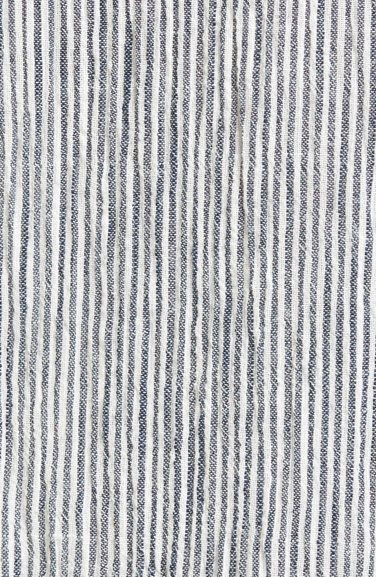 Sunset Islands Pinstripe Maxi Skirt,                             Alternate thumbnail 5, color,                             101