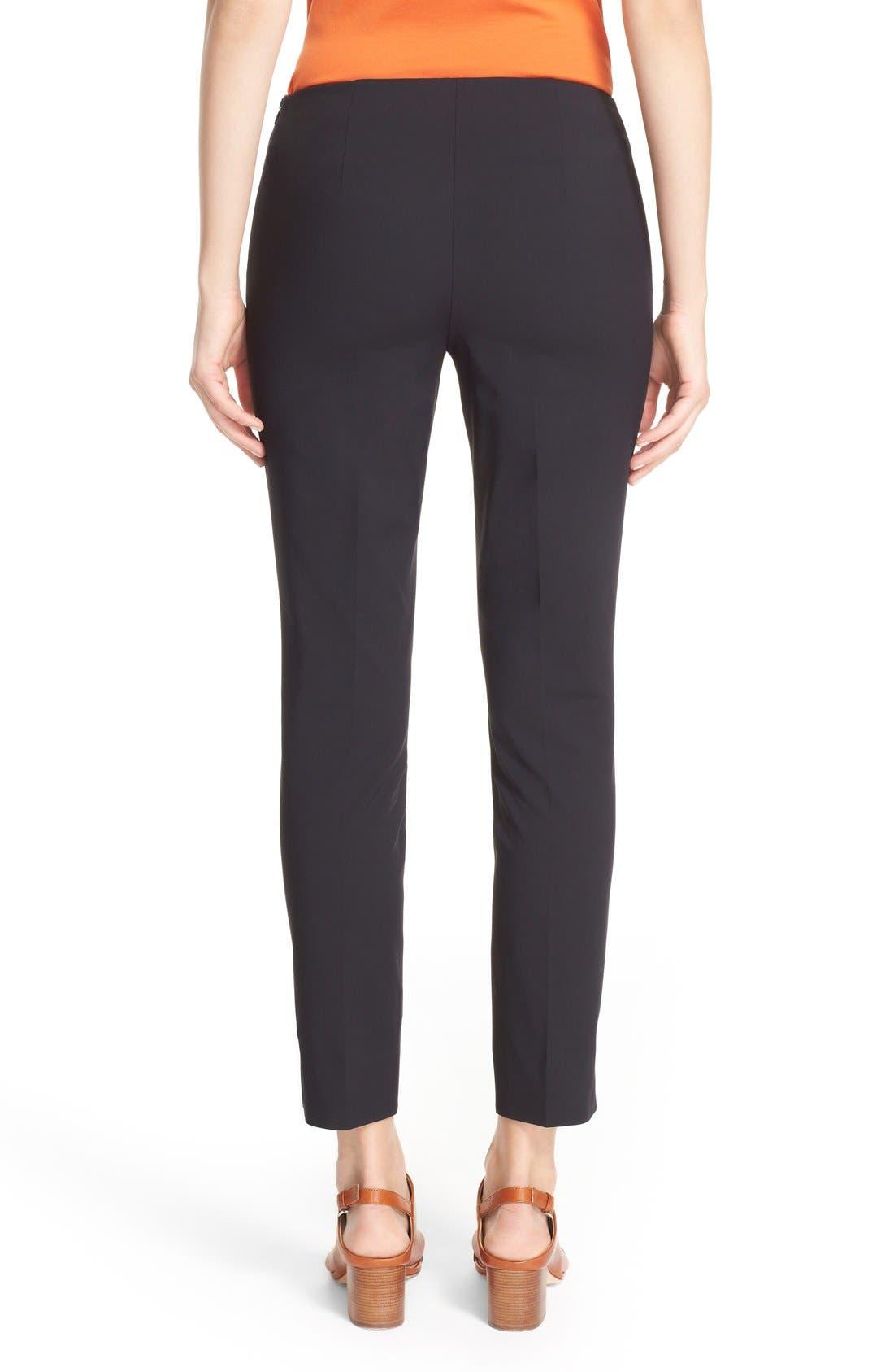 'Stanton' Slim Leg Ankle Pants,                             Alternate thumbnail 6, color,                             BLACK