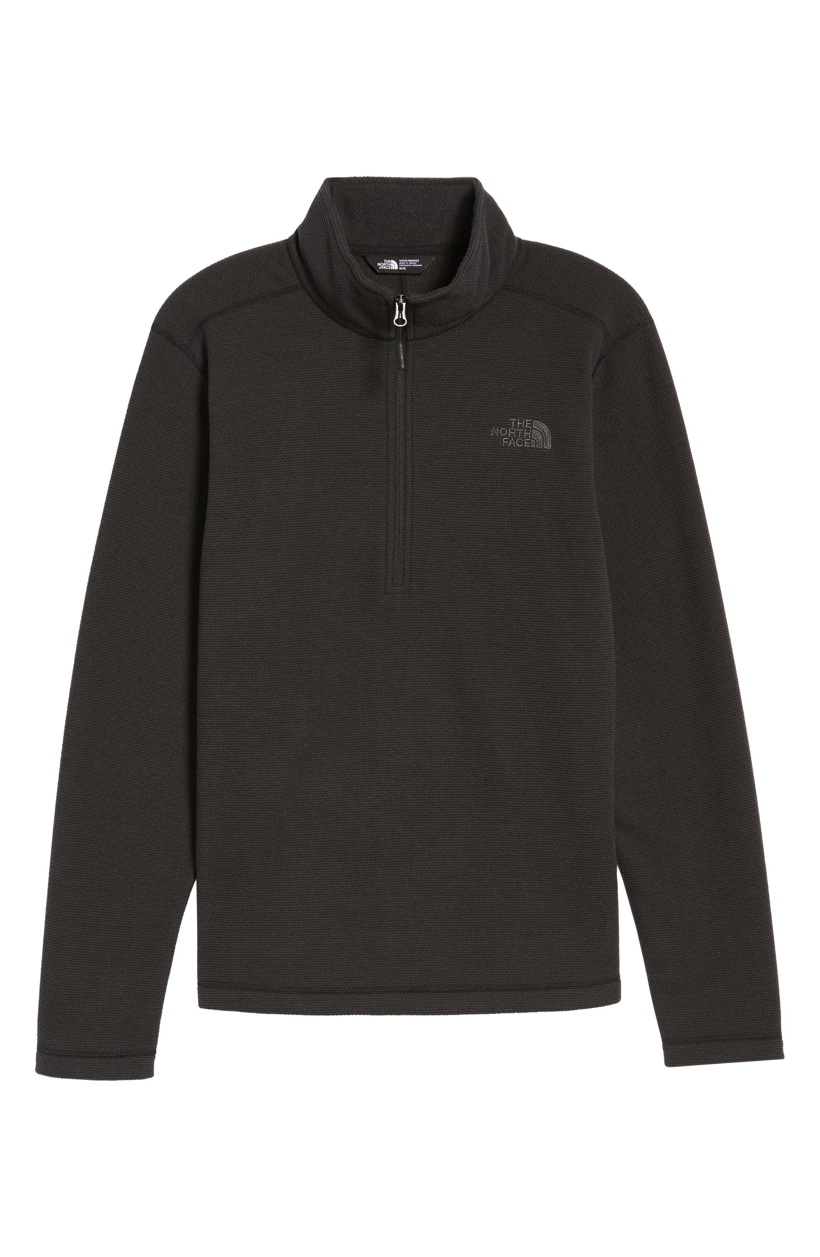 Texture Cap Rock Quarter Zip Fleece Jacket,                             Alternate thumbnail 5, color,                             TNF BLACK