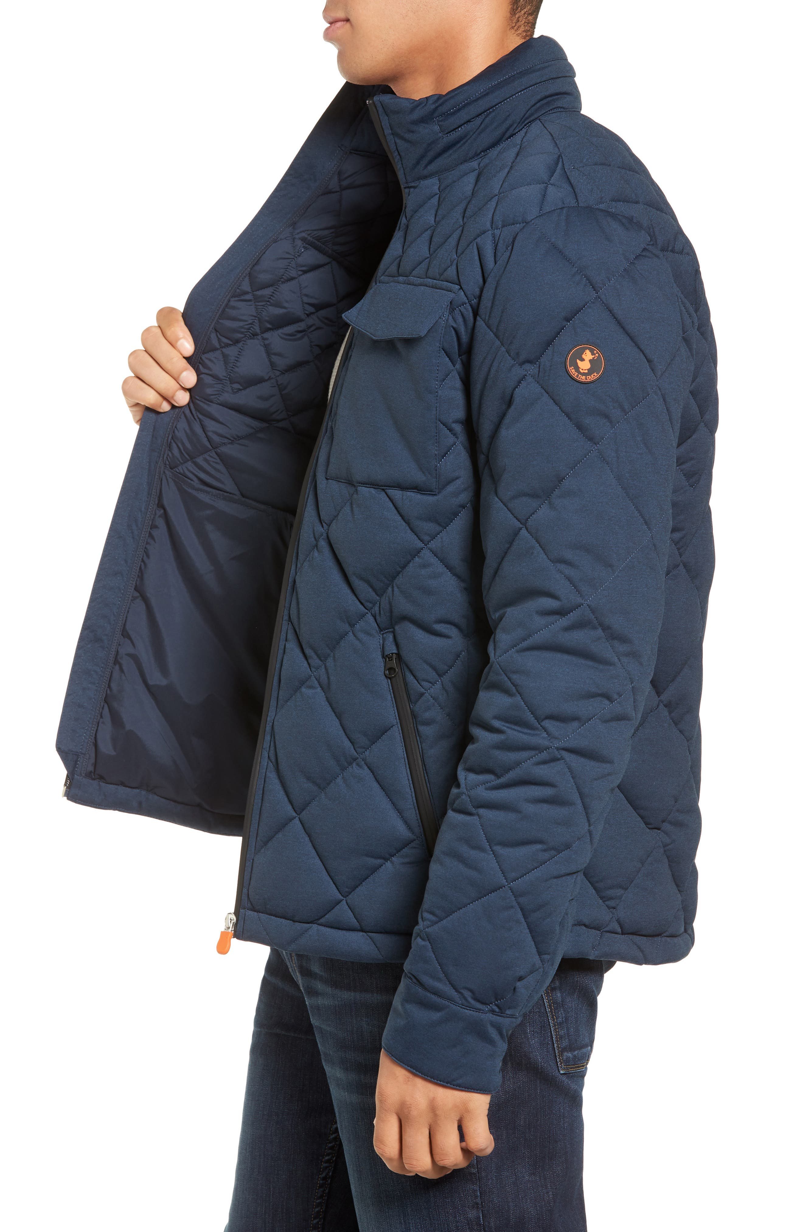 Stretch Quilted Field Jacket,                             Alternate thumbnail 3, color,                             411