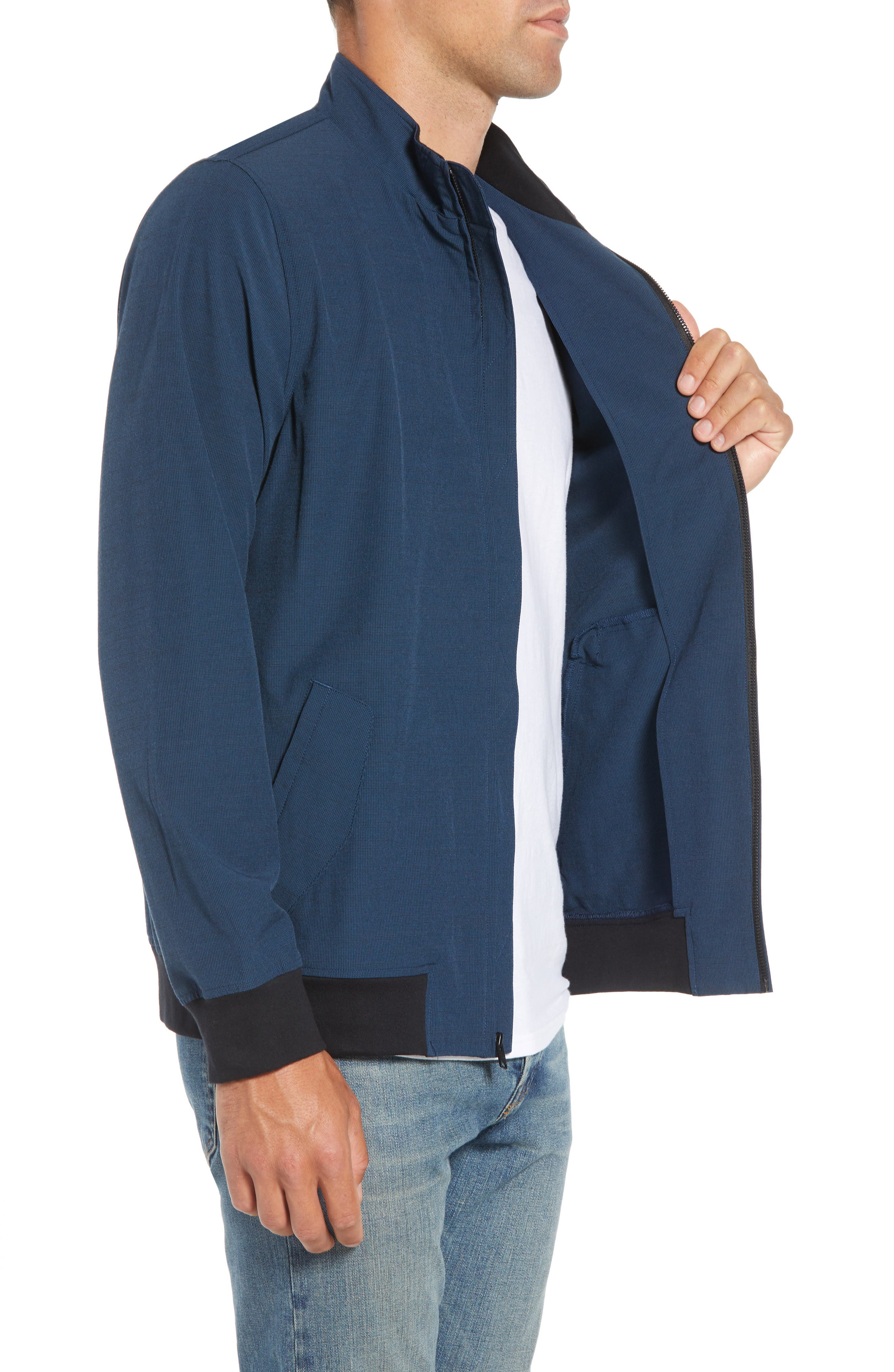 Ridgley Regular Fit Jacket,                             Alternate thumbnail 3, color,                             BLUE WING TEAL/ BLACK