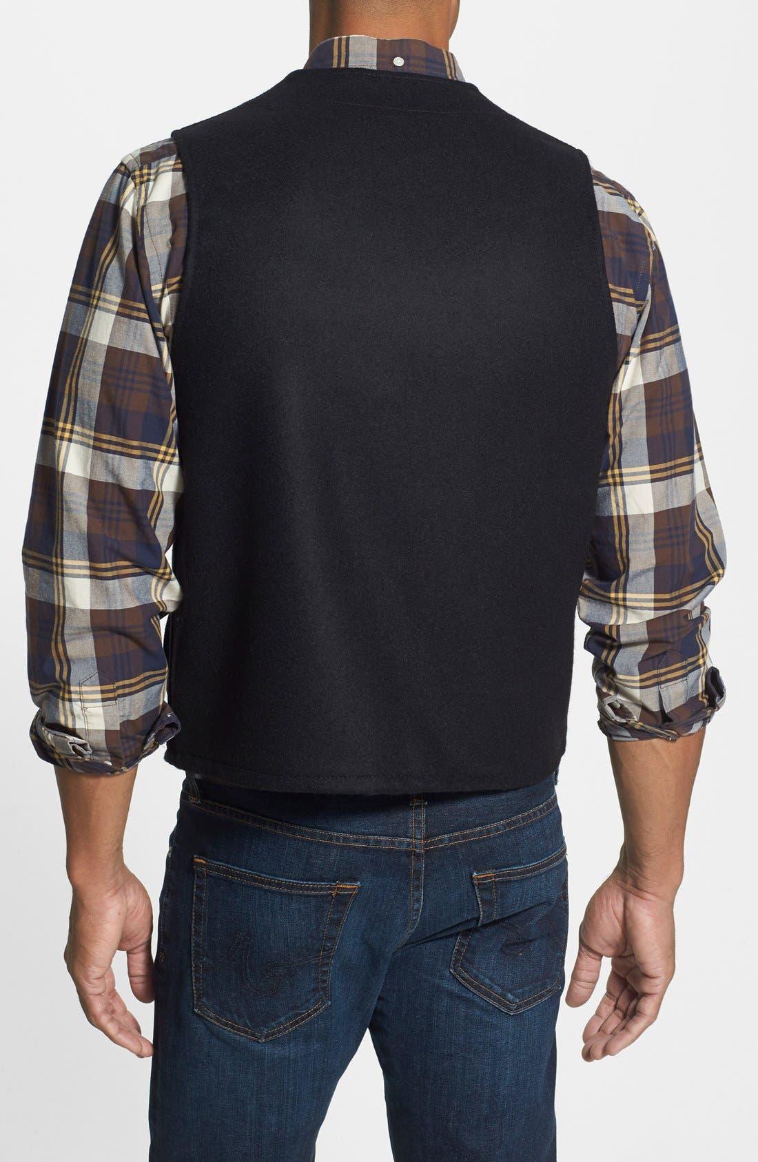FILSON,                             'Mackinaw' Wool Vest,                             Alternate thumbnail 3, color,                             001