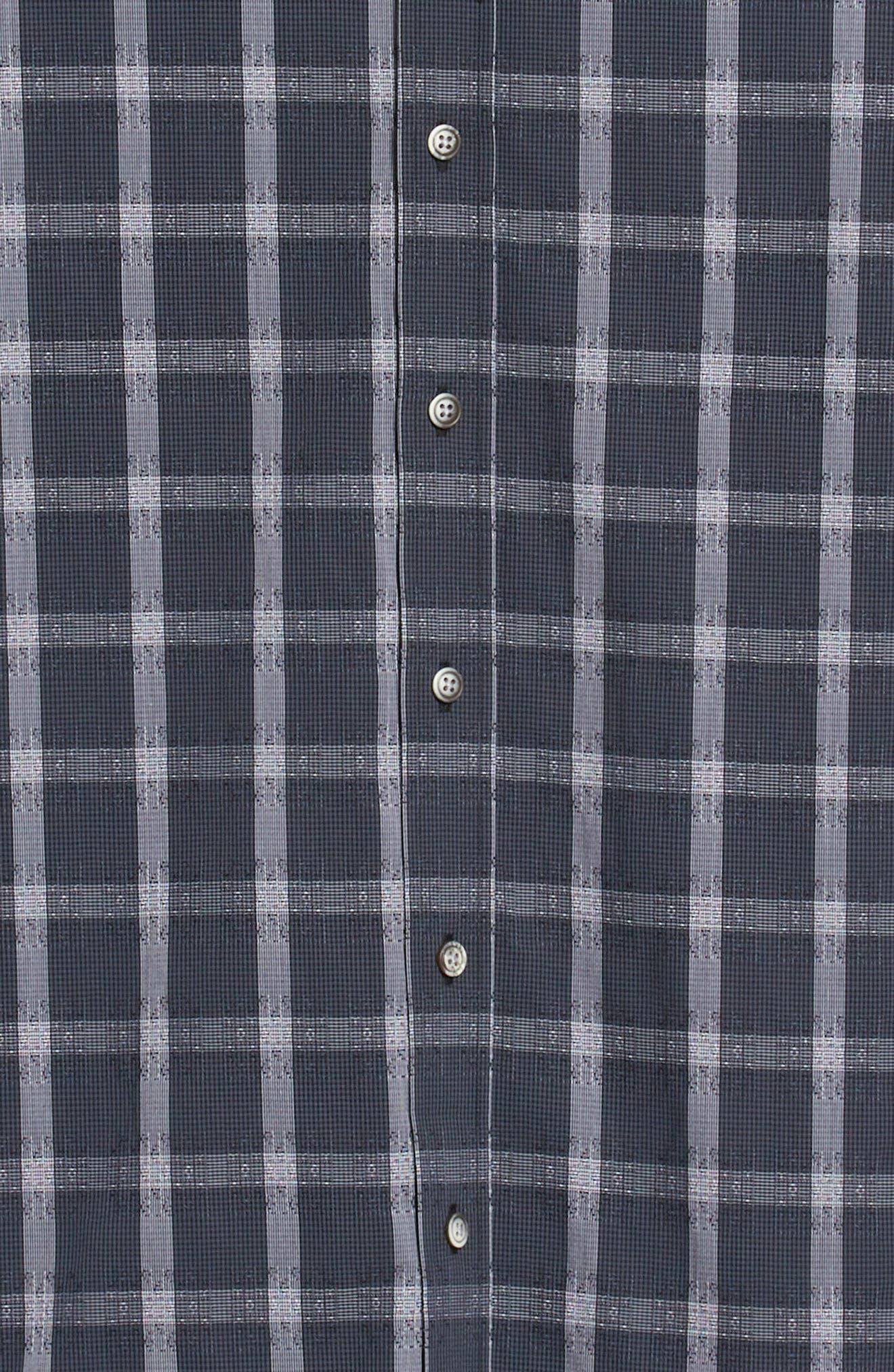 Jenson Tailored Fit Sport Shirt,                             Alternate thumbnail 6, color,                             BLACK