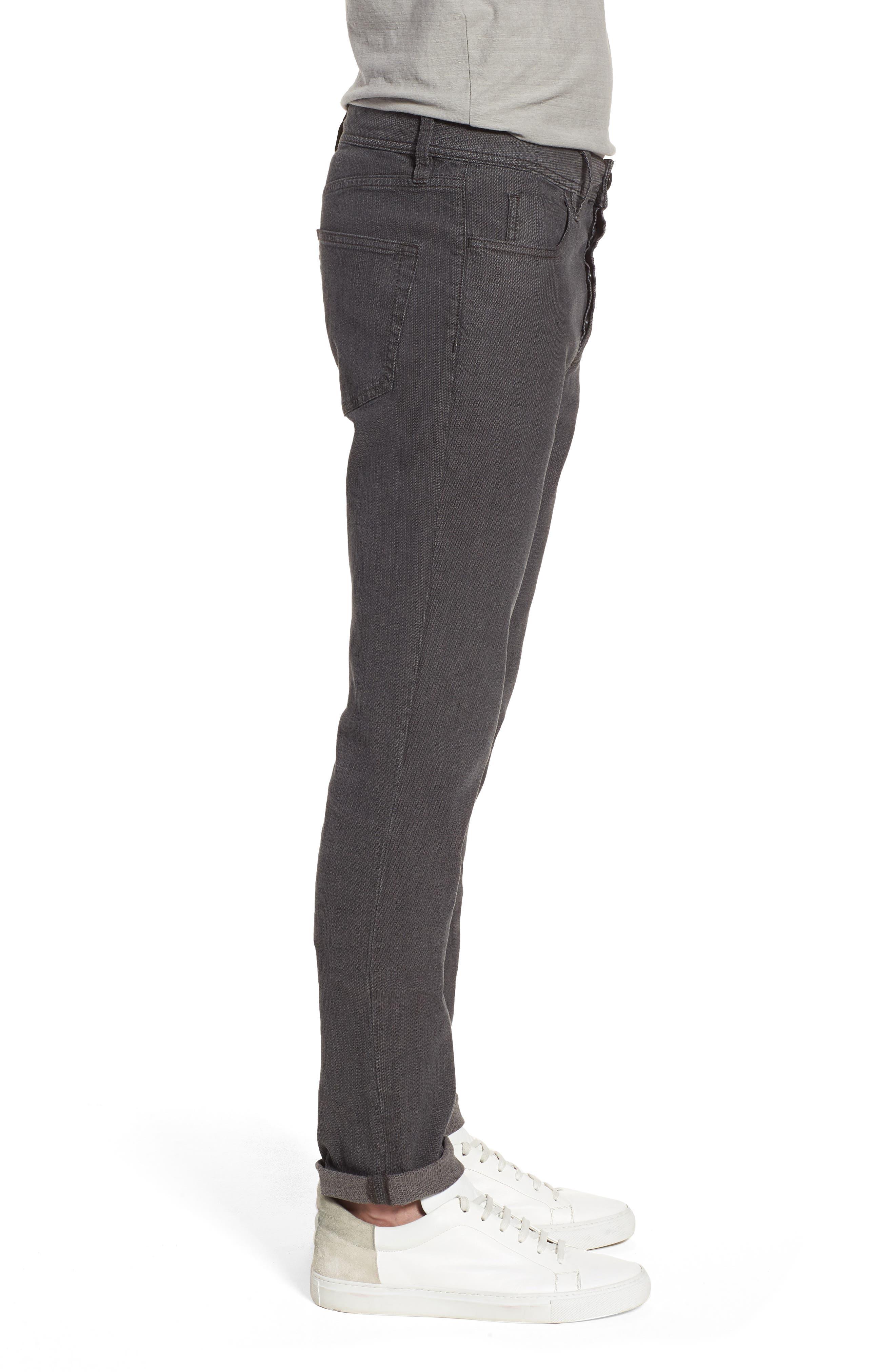 Slim Fit Stretch Herringbone Pants,                             Alternate thumbnail 3, color,