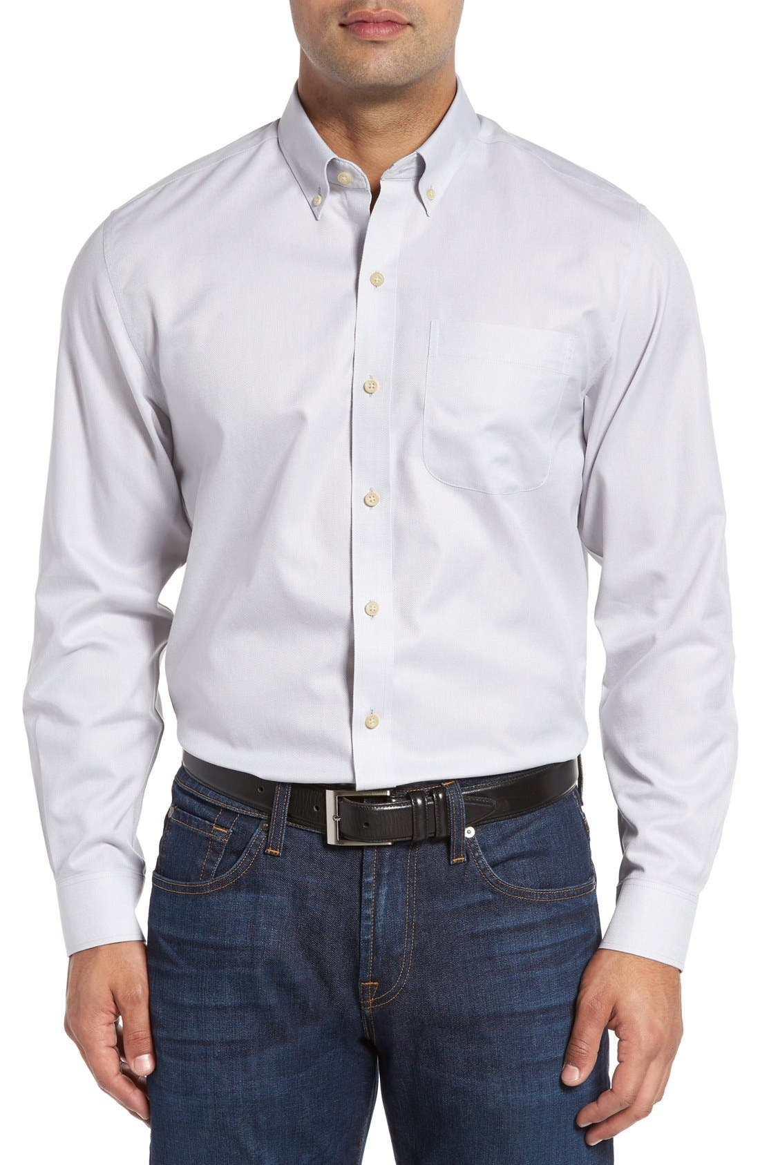 San Juan Classic Fit Wrinkle Free Solid Sport Shirt,                         Main,                         color, 054