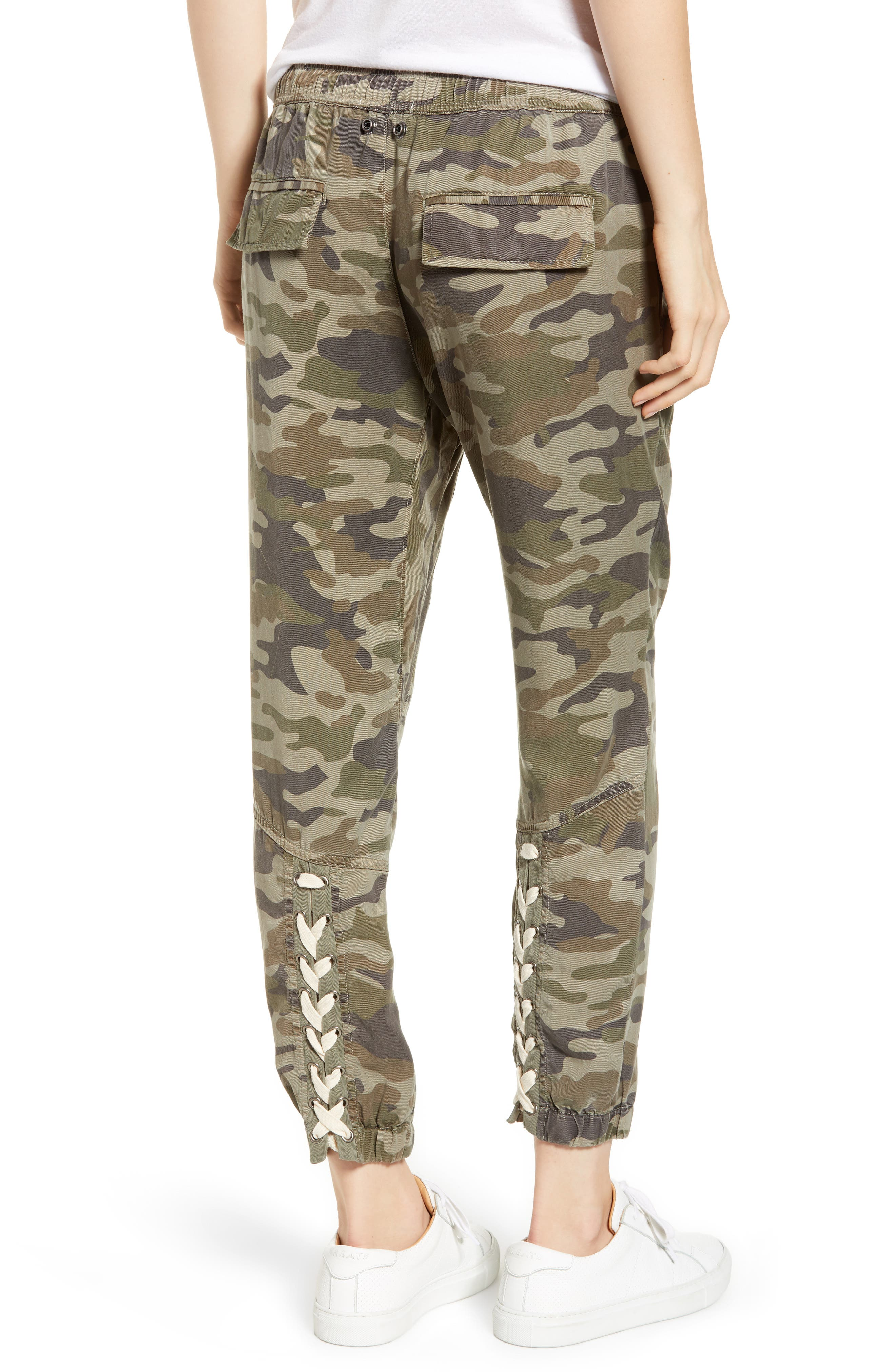 Clay Camo Lace-Up Pants,                             Alternate thumbnail 2, color,                             CLAY CAMO