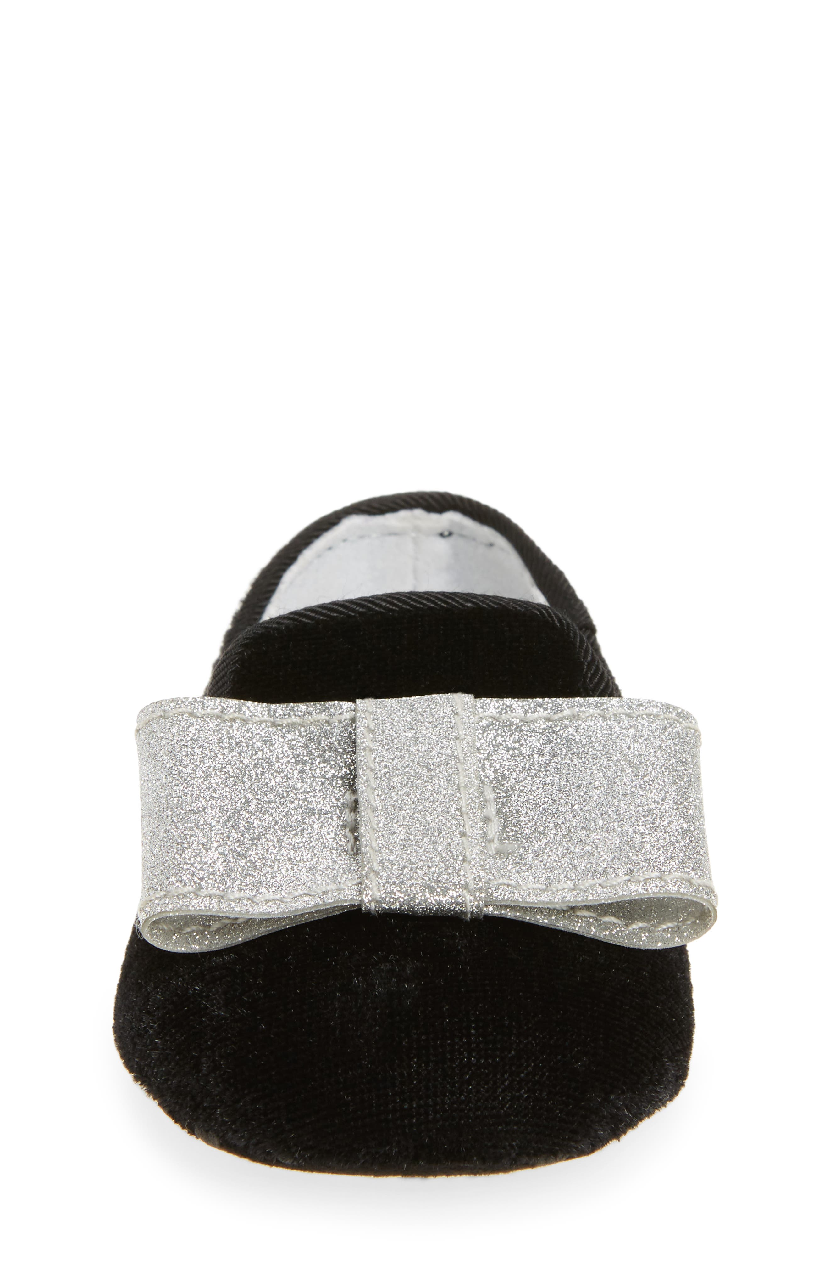 Bow Loafer Crib Shoe,                             Alternate thumbnail 4, color,                             012