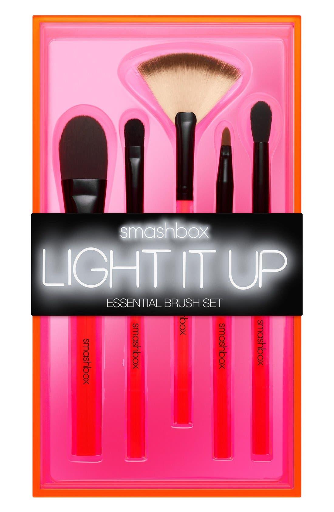 Light It Up Essential Brush Set,                             Alternate thumbnail 3, color,                             000