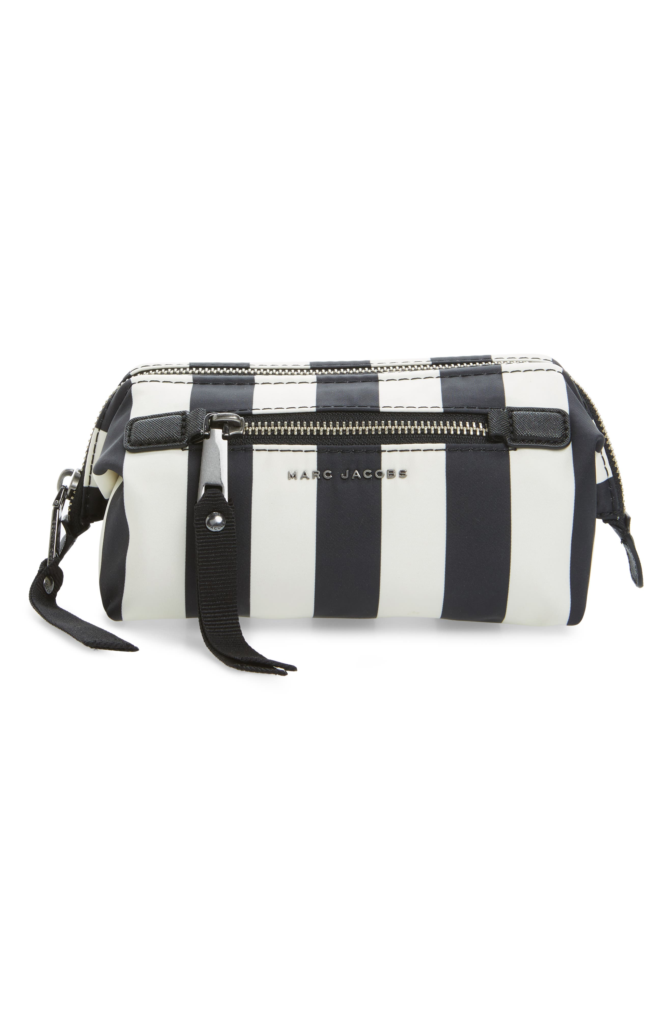 Stripes Trooper Cosmetics Bag,                             Main thumbnail 1, color,                             001