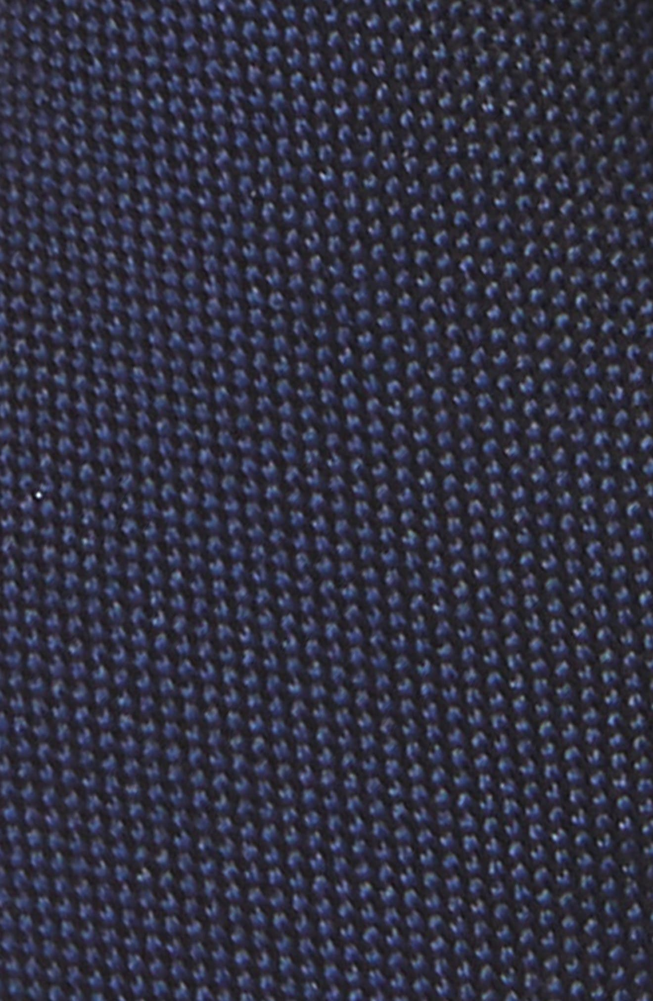 Natte Weave Silk Tie,                             Alternate thumbnail 2, color,                             NAVY