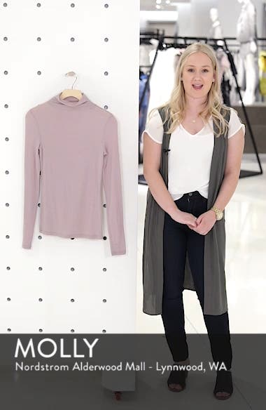 Lightweight Long Sleeve Funnel Neck Top, sales video thumbnail