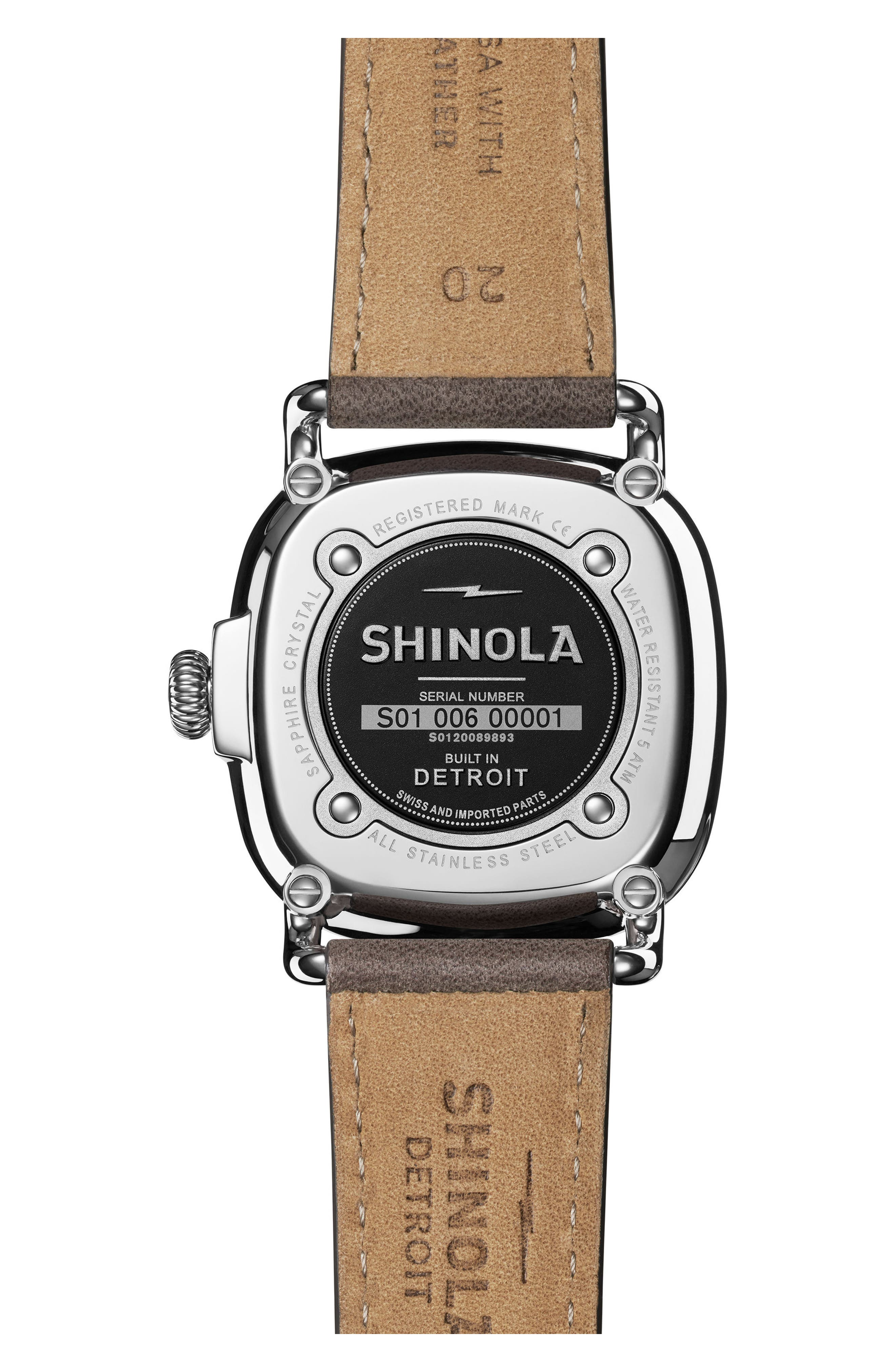 The Guardian Leather Strap Watch, 36mm,                             Alternate thumbnail 2, color,                             GREY/ NUDE PINK/ SILVER
