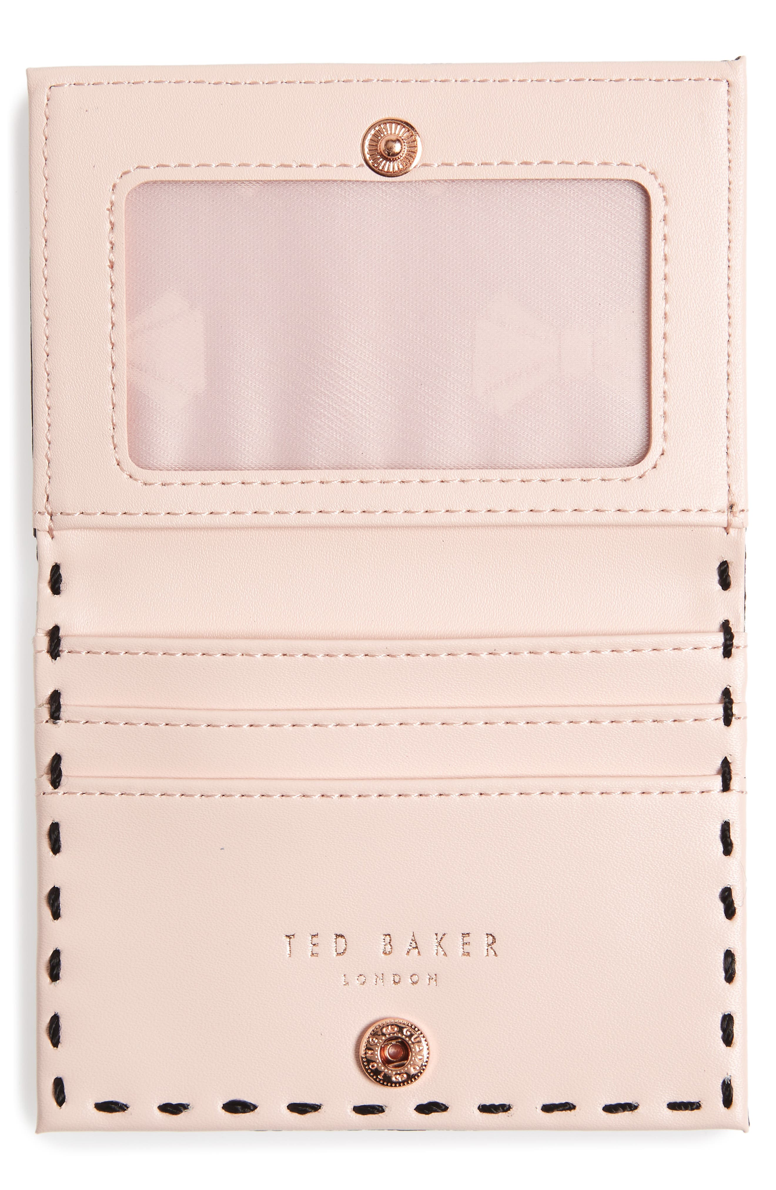 Hermina Leather Card Case,                             Alternate thumbnail 2, color,                             001