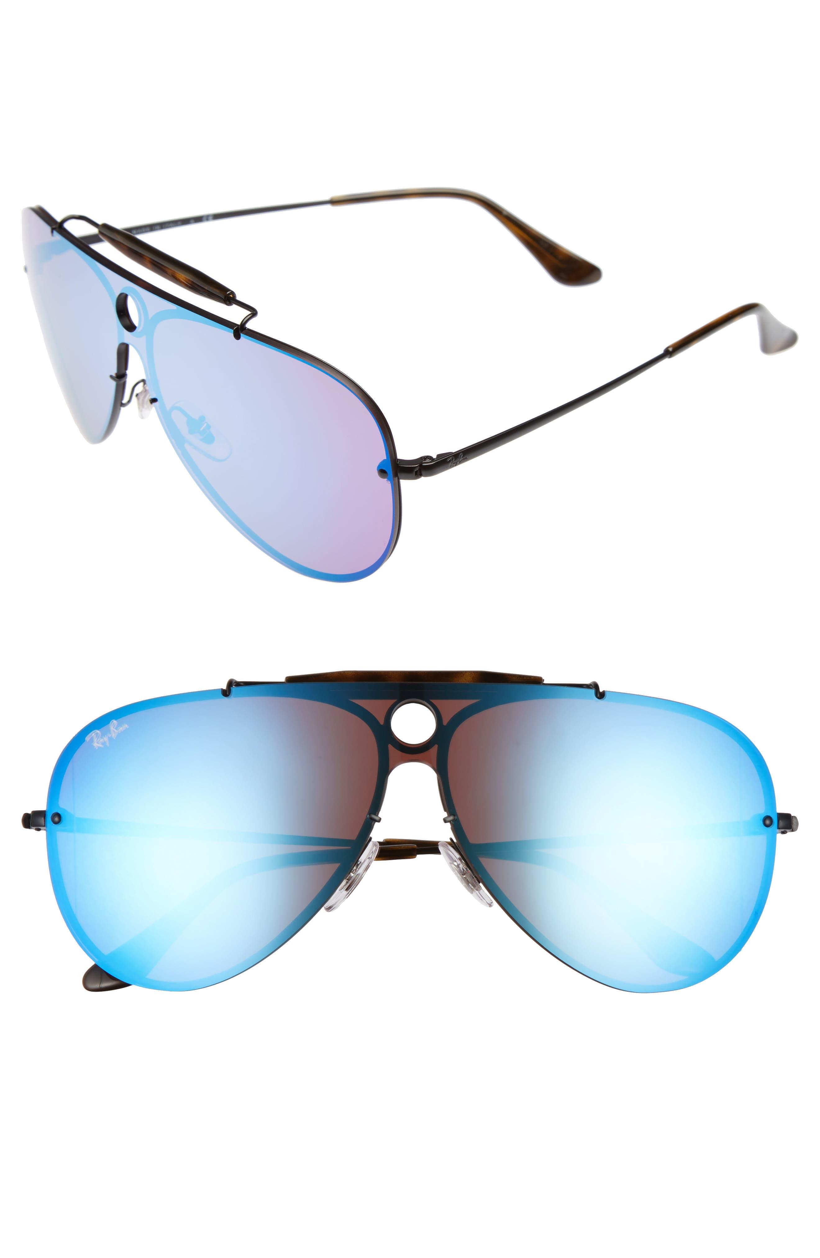 Aviator Shield Sunglasses,                             Main thumbnail 1, color,                             001