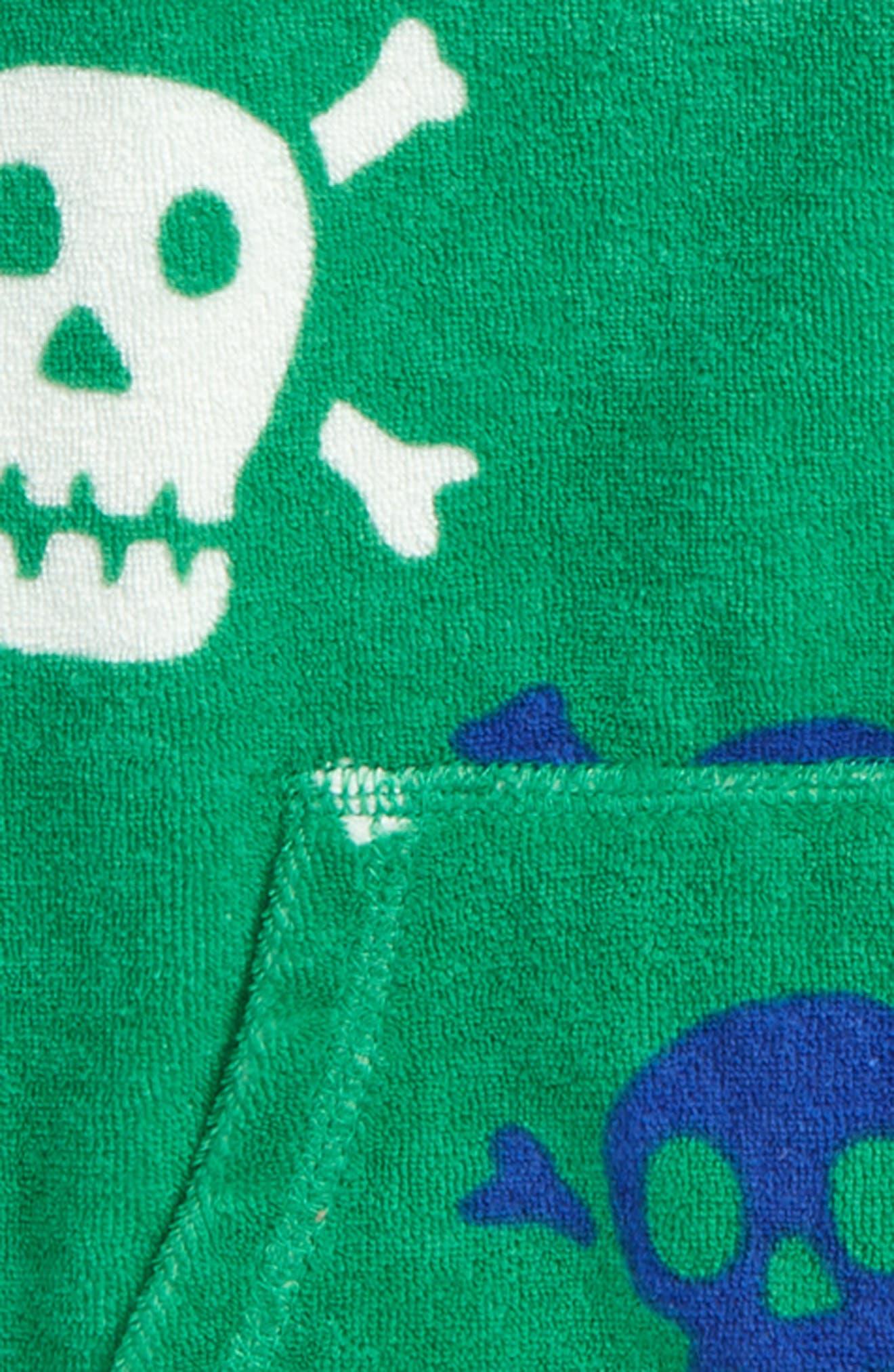 Skulls Toweling Zip Hoodie,                             Alternate thumbnail 2, color,                             315