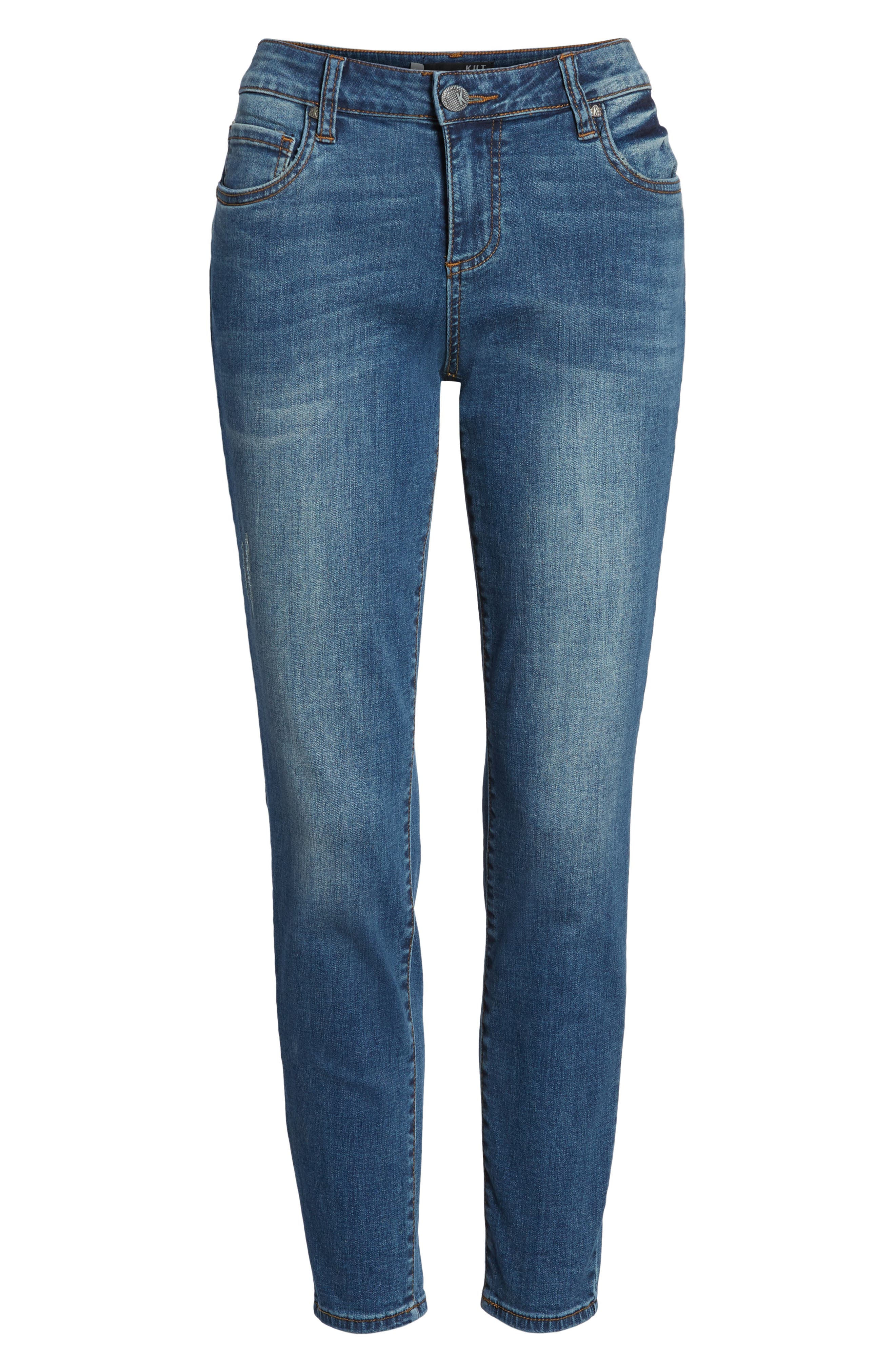 Donna Skinny Ankle Jeans,                             Alternate thumbnail 7, color,                             460