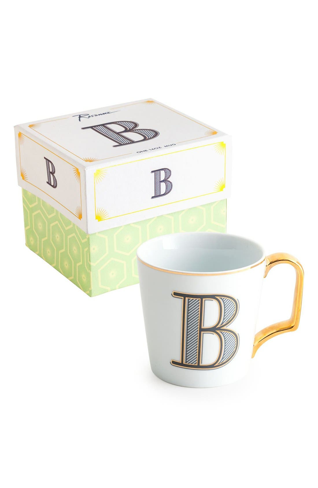 Monogram Porcelain Coffee Mug,                             Main thumbnail 1, color,