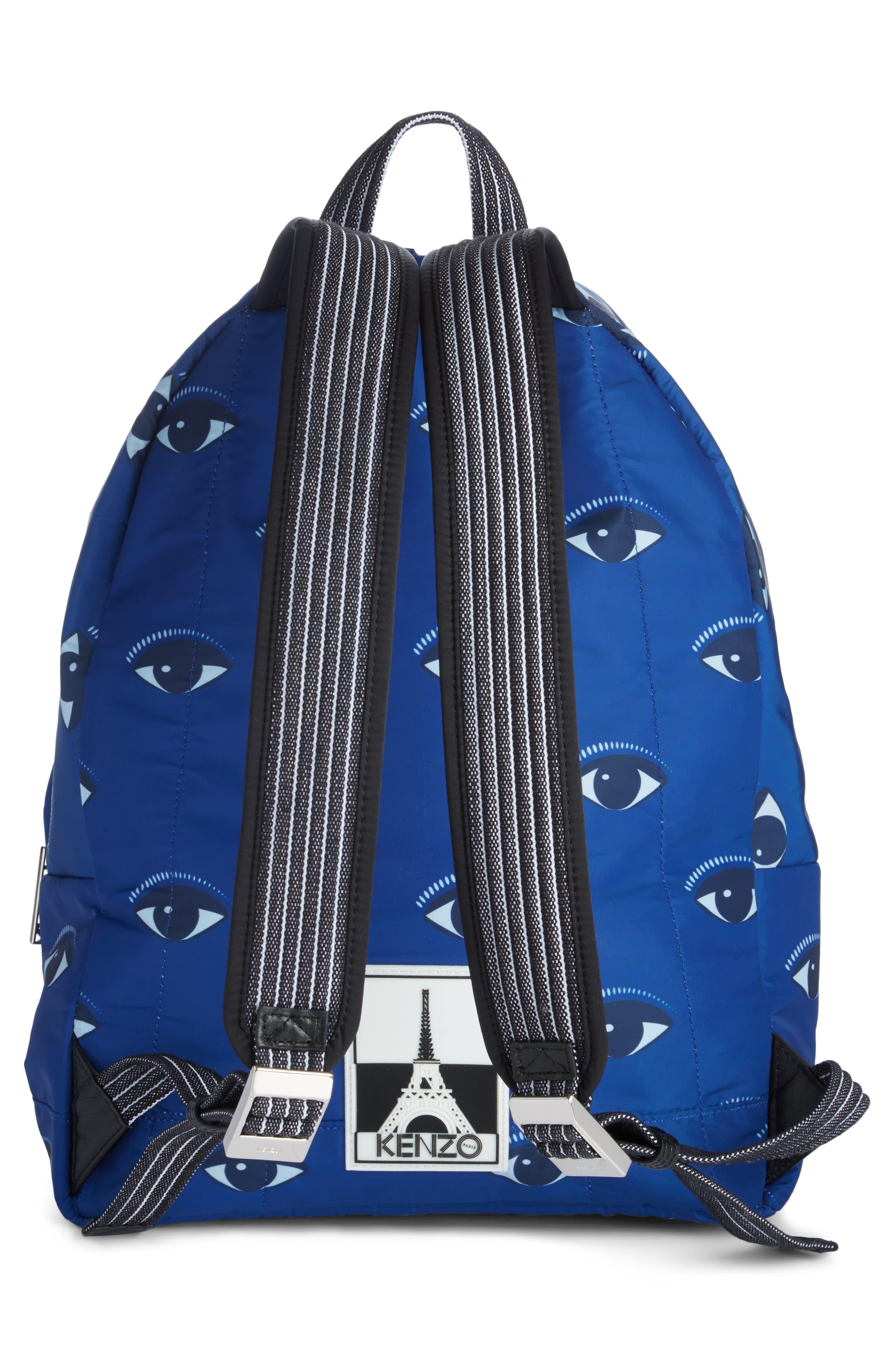 'Eyes' Nylon Backpack,                             Alternate thumbnail 2, color,                             DEEP SEA BLUE