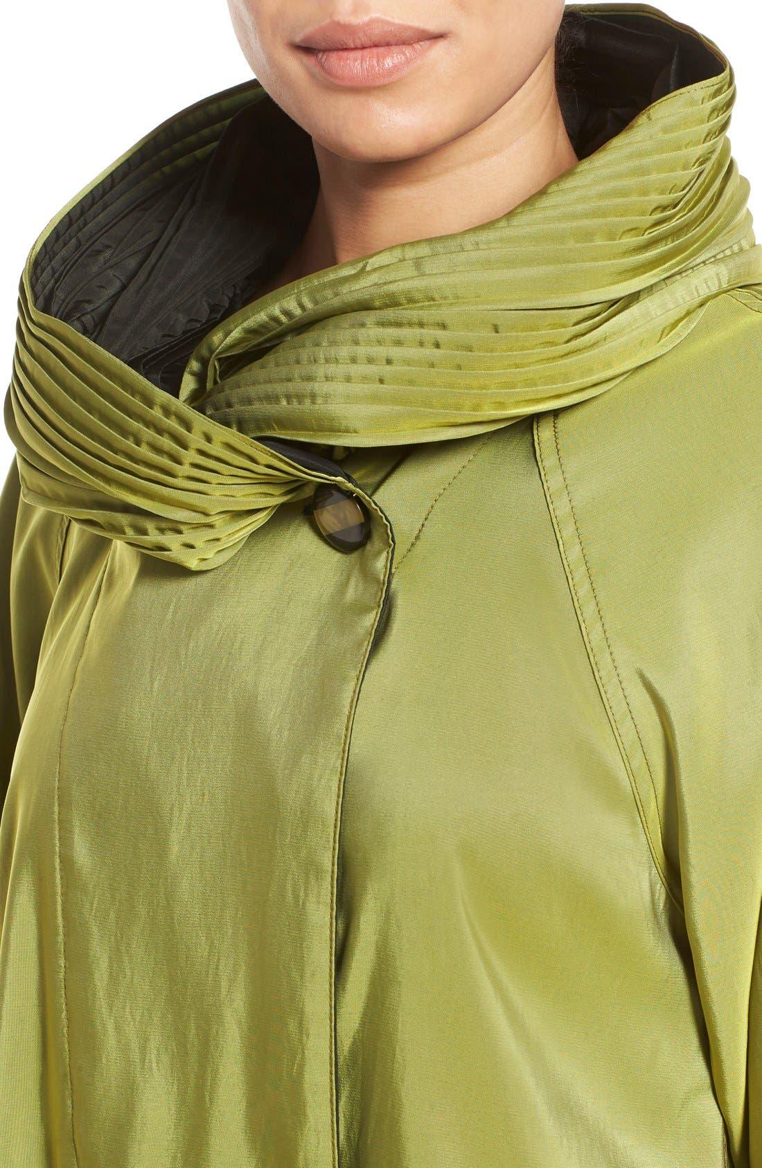 'Mini Donatella' Reversible Pleat Hood Packable Travel Coat,                             Alternate thumbnail 73, color,