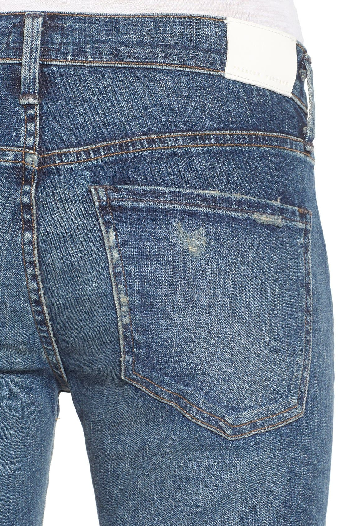 'Elsa' Crop Slim Jeans,                             Alternate thumbnail 4, color,