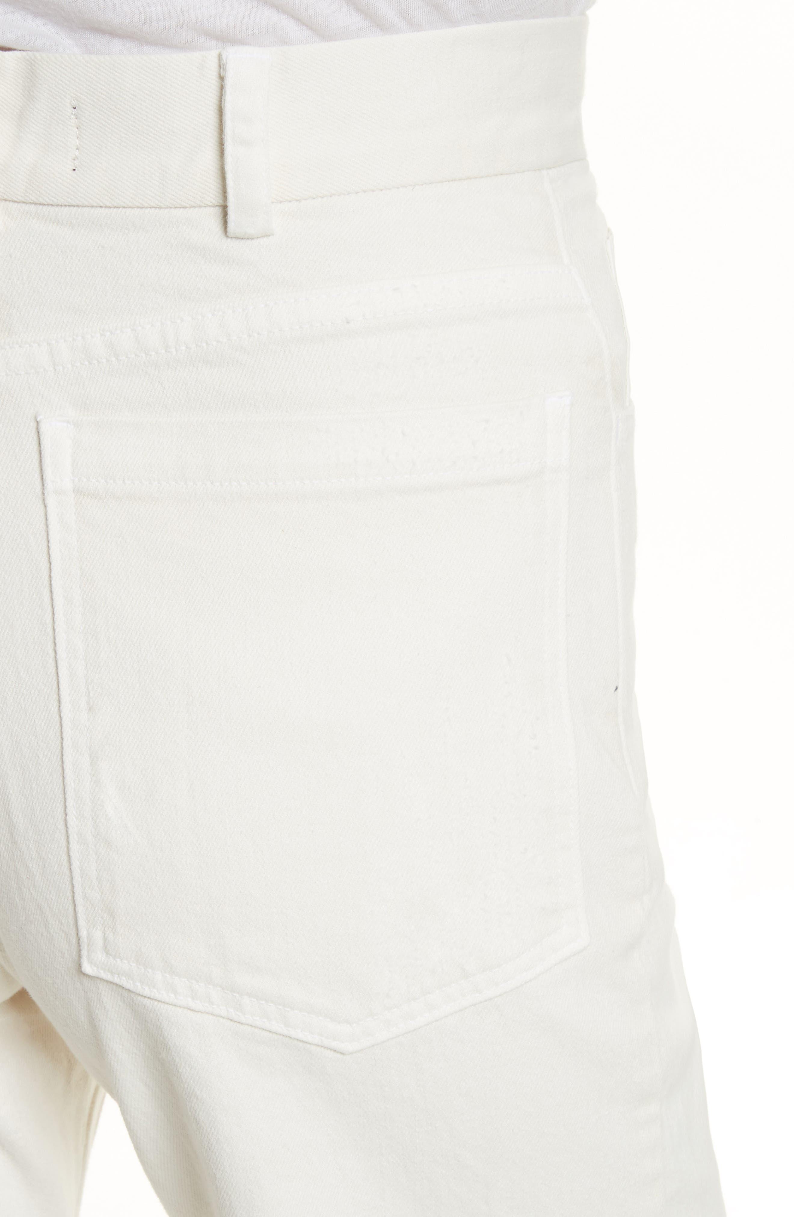 Rachey Comey Legion Crop Wide Leg Pants,                             Alternate thumbnail 4, color,                             DIRTY WHITE