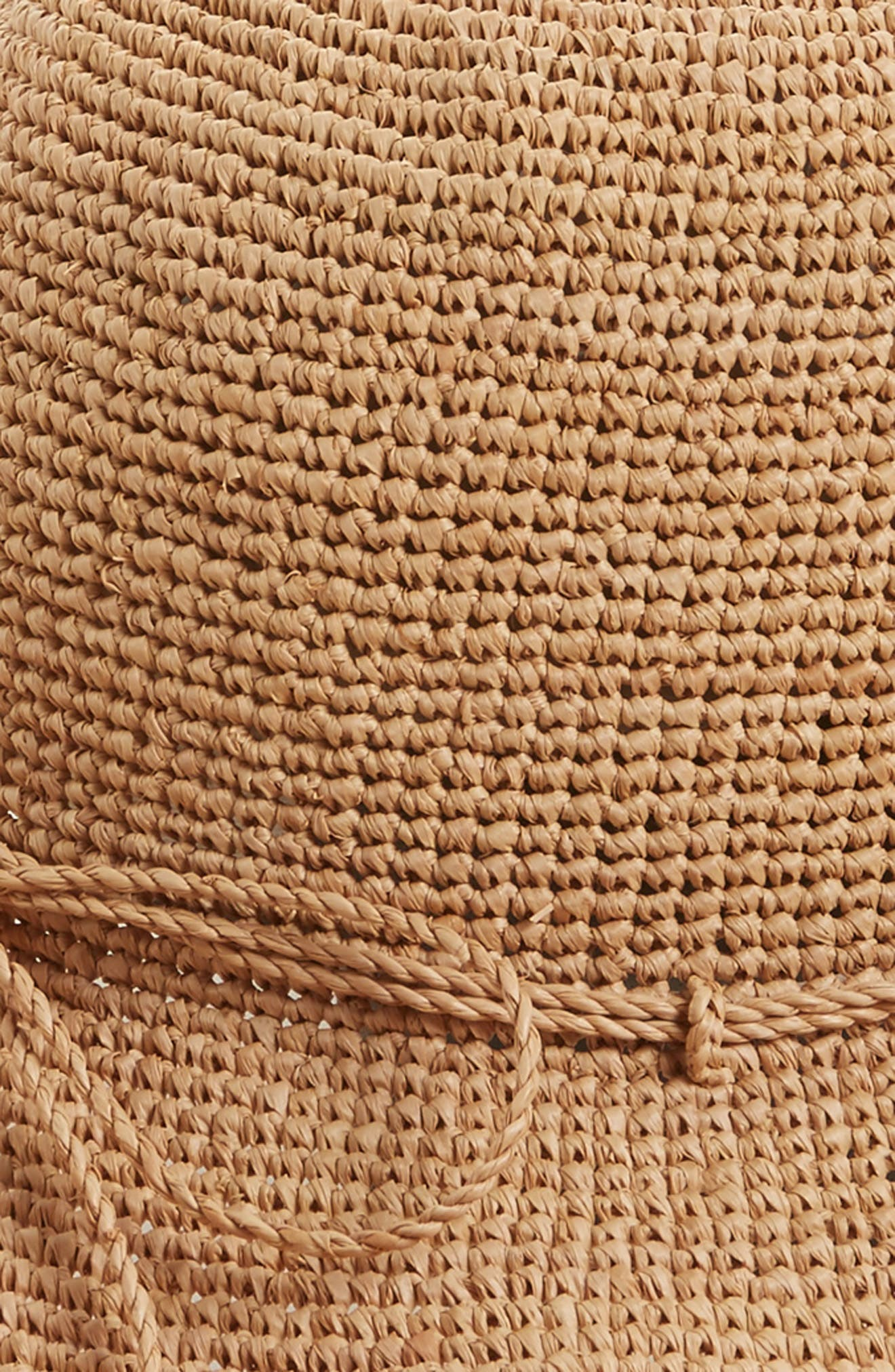 'Provence 12' Packable Raffia Hat,                             Alternate thumbnail 24, color,