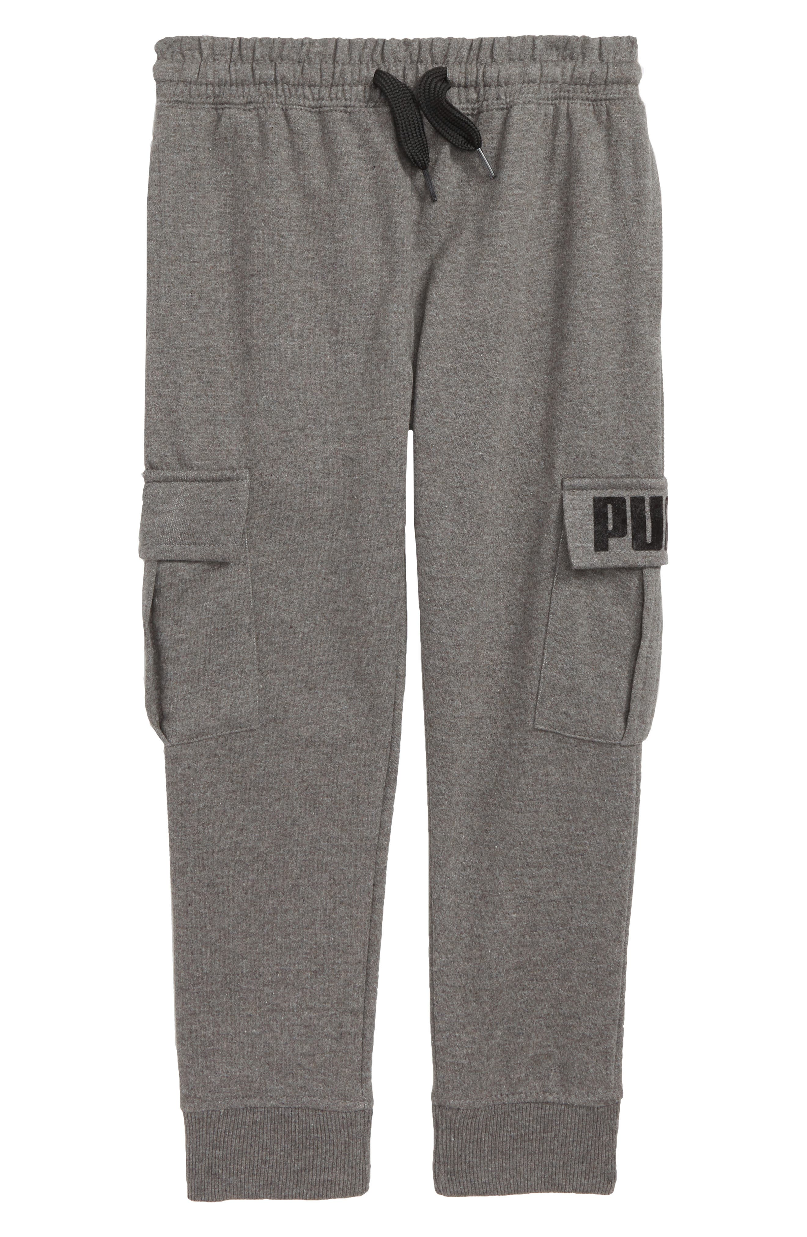 Boys Puma Cargo Pocket Sweatpants
