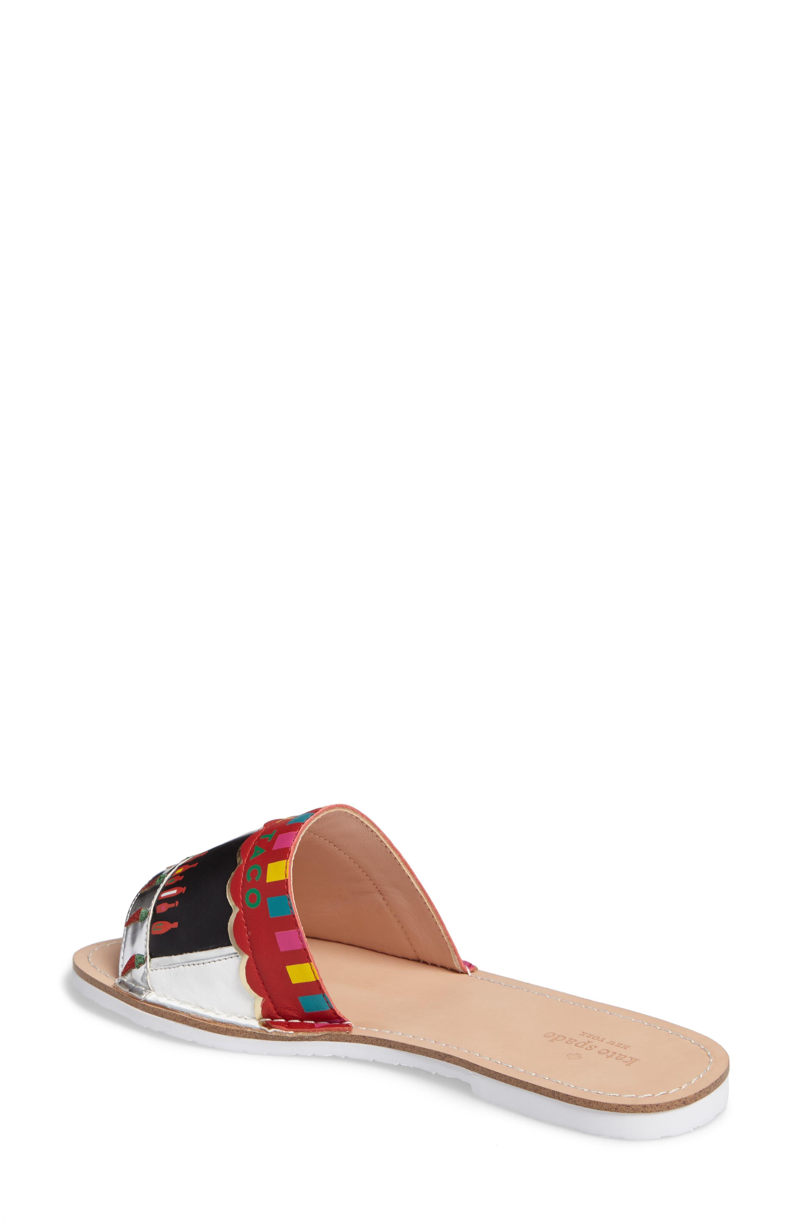 illi slide sandal,                             Alternate thumbnail 2, color,                             001