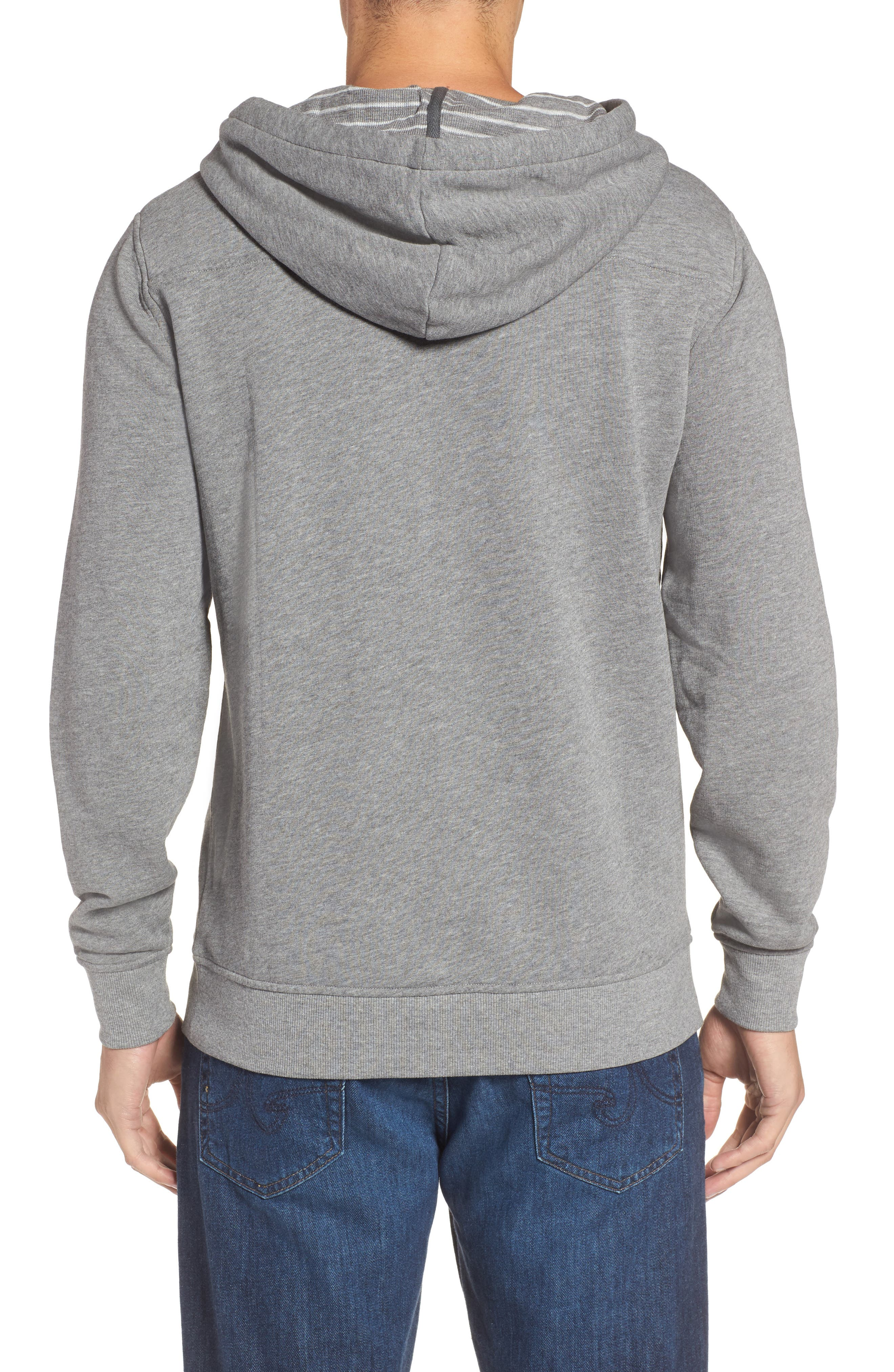 Washed Cotton Pullover Hoodie,                             Alternate thumbnail 2, color,                             030