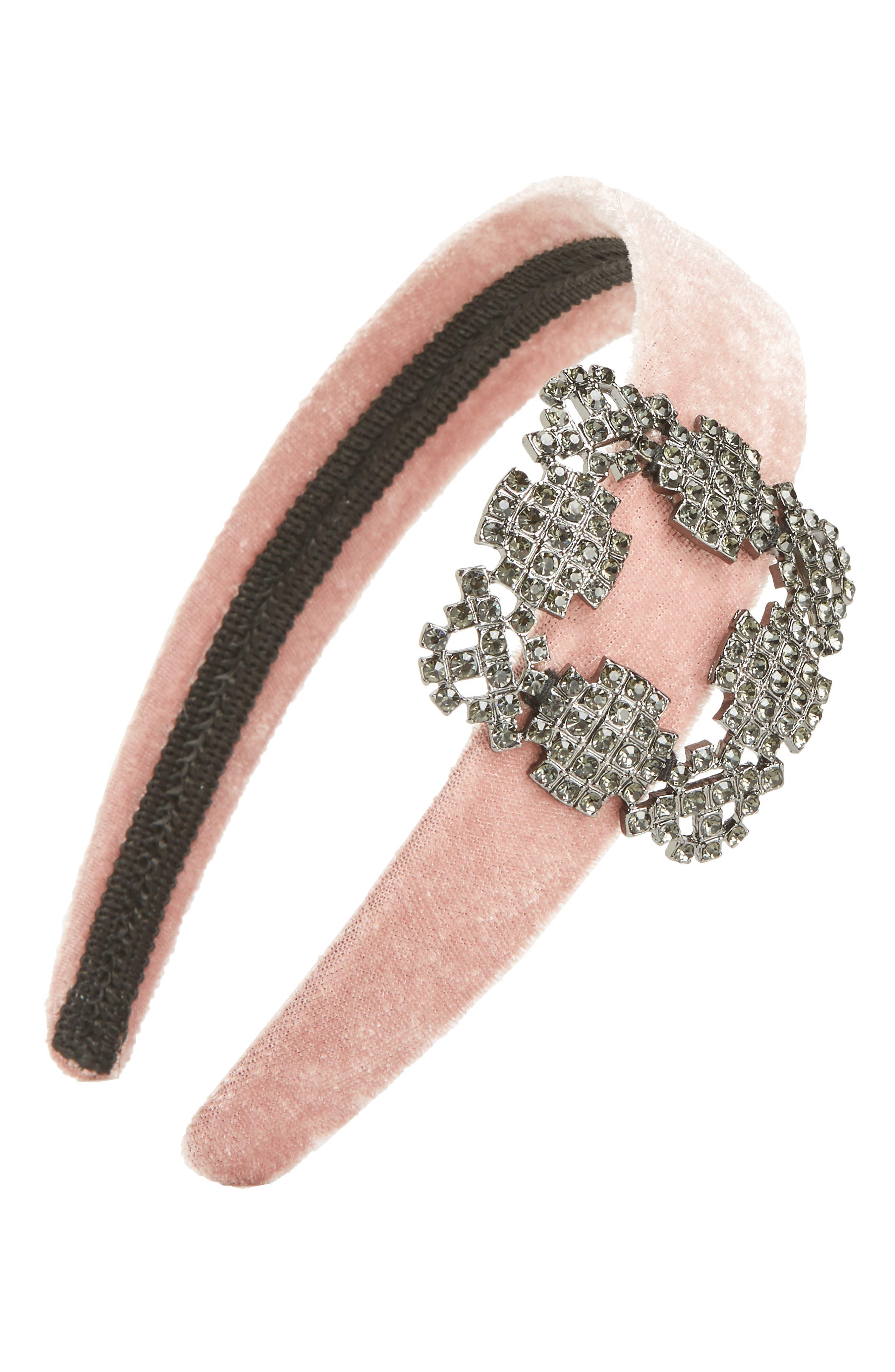 Natasha Buckle Headband,                         Main,                         color, BLUSH