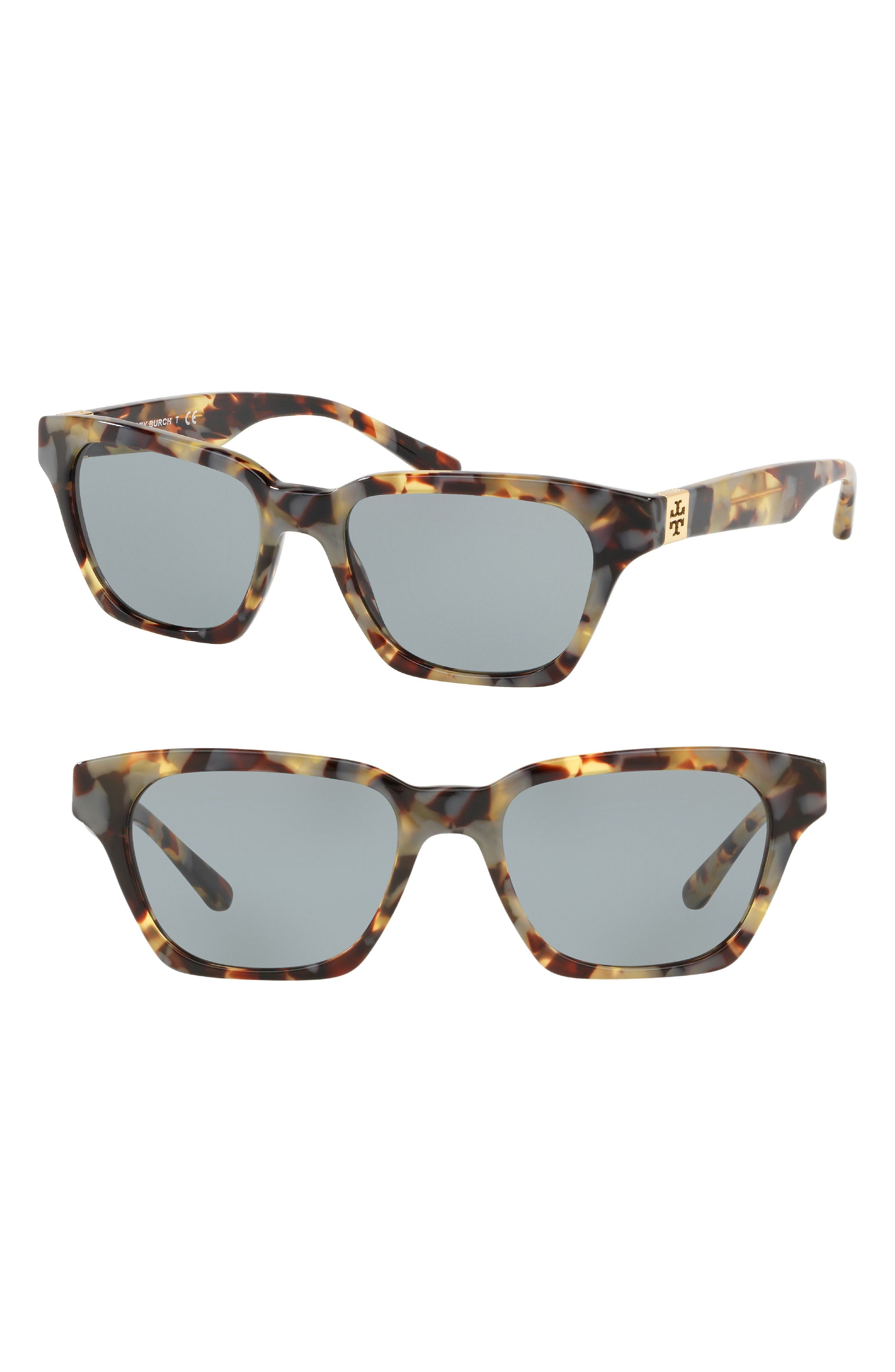 Classic Stacked 51mm Sunglasses,                             Main thumbnail 1, color,                             GREY HORN