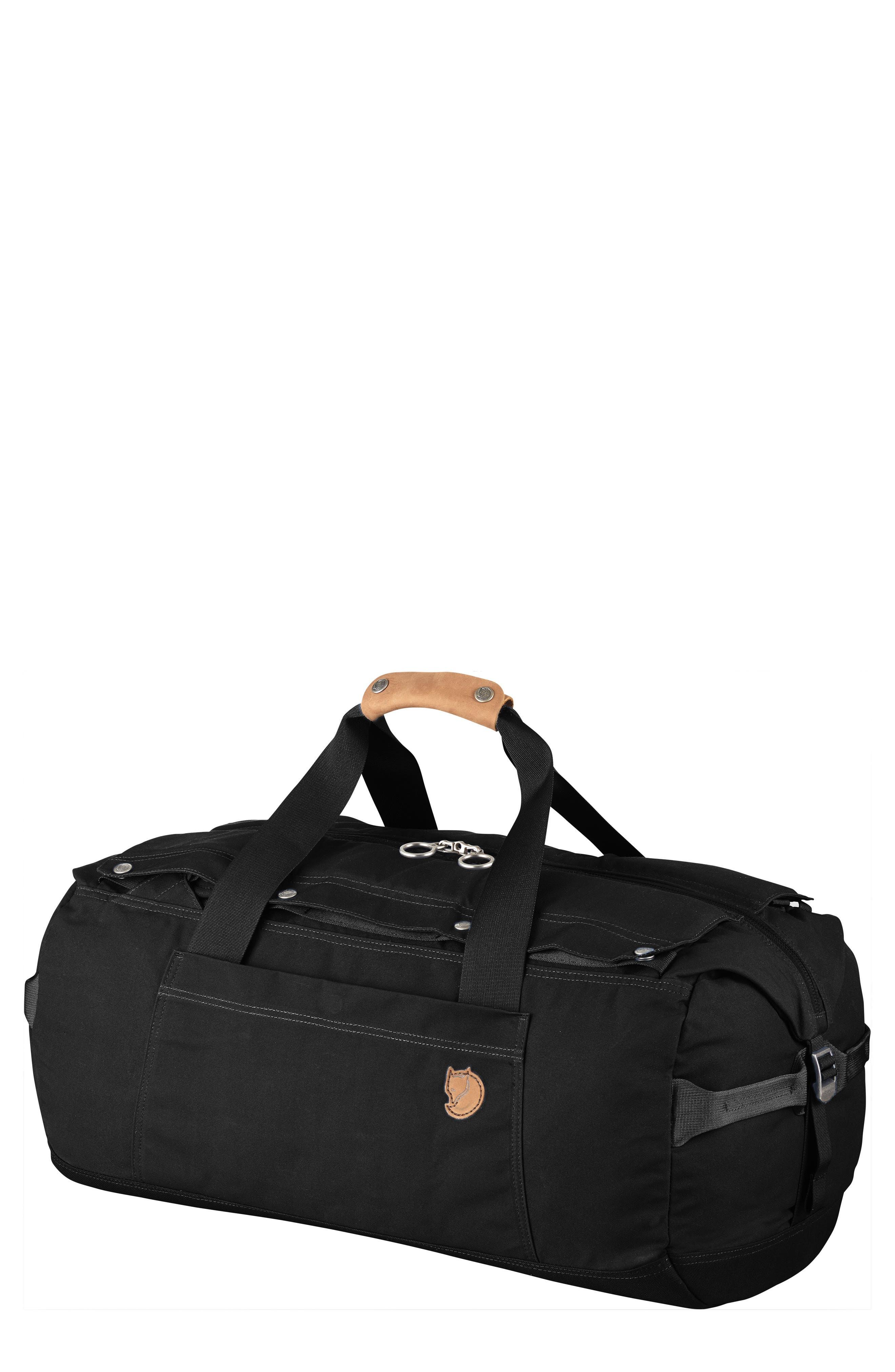 Duffel No. 6 Convertible Duffel Bag,                             Main thumbnail 1, color,                             BLACK
