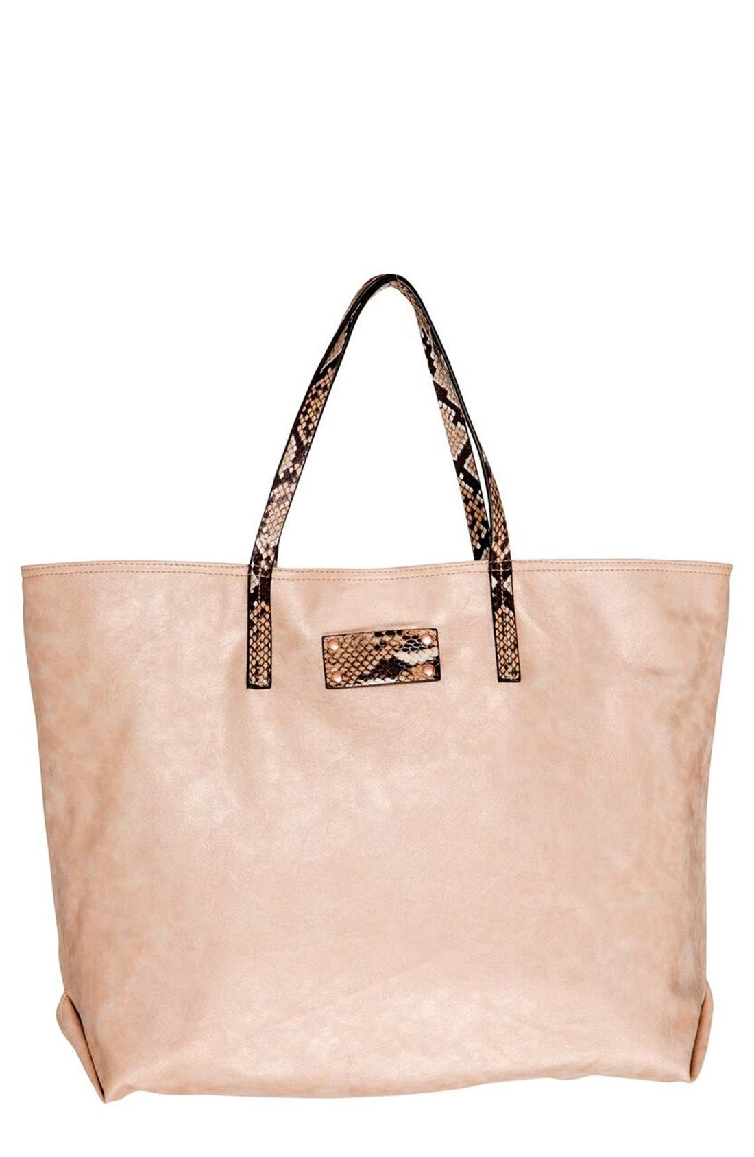 Sun Valley Vegan Leather Tote,                             Main thumbnail 1, color,                             650