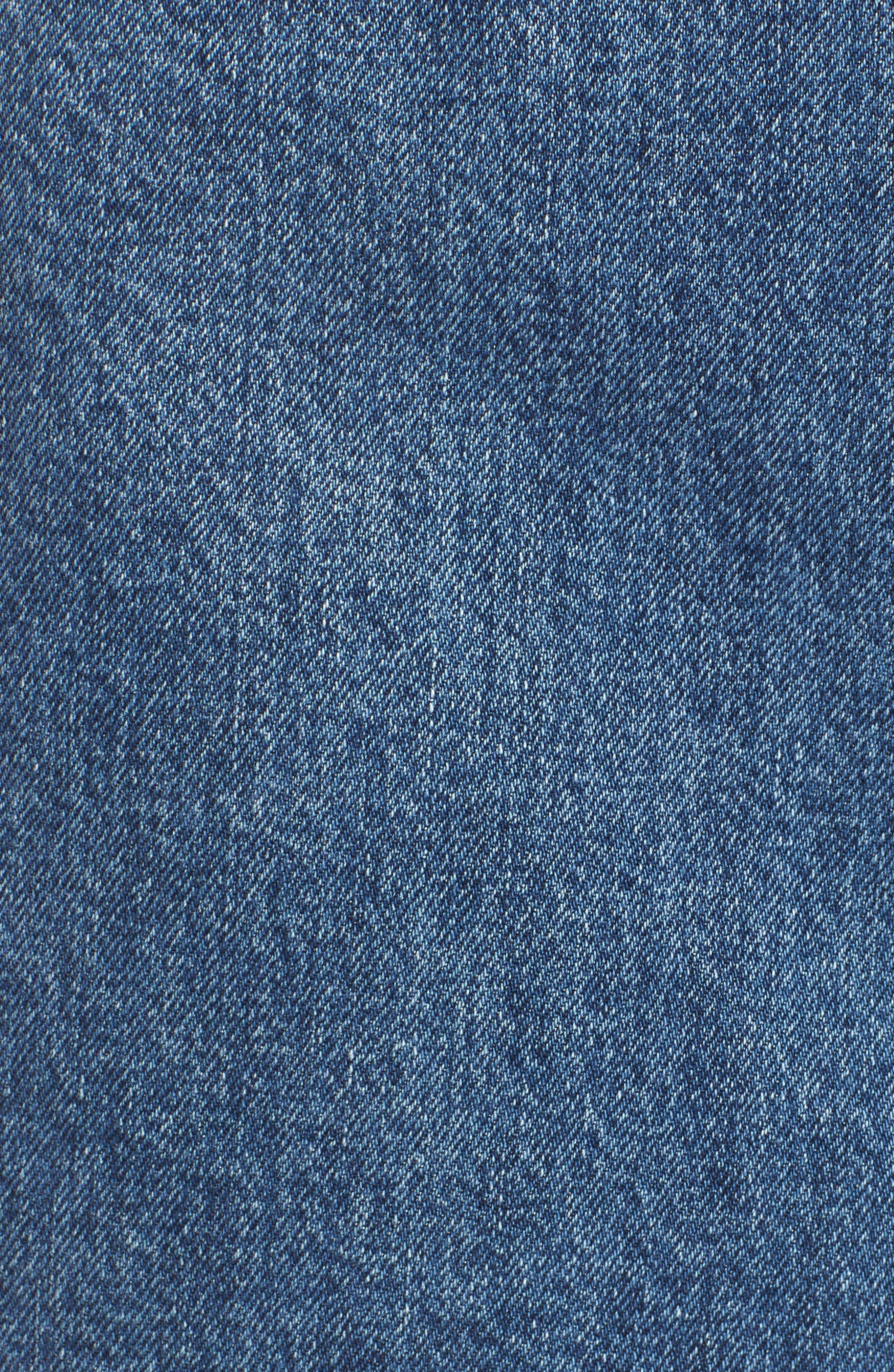 The Viper Cutoff Denim Miniskirt,                             Alternate thumbnail 6, color,                             422