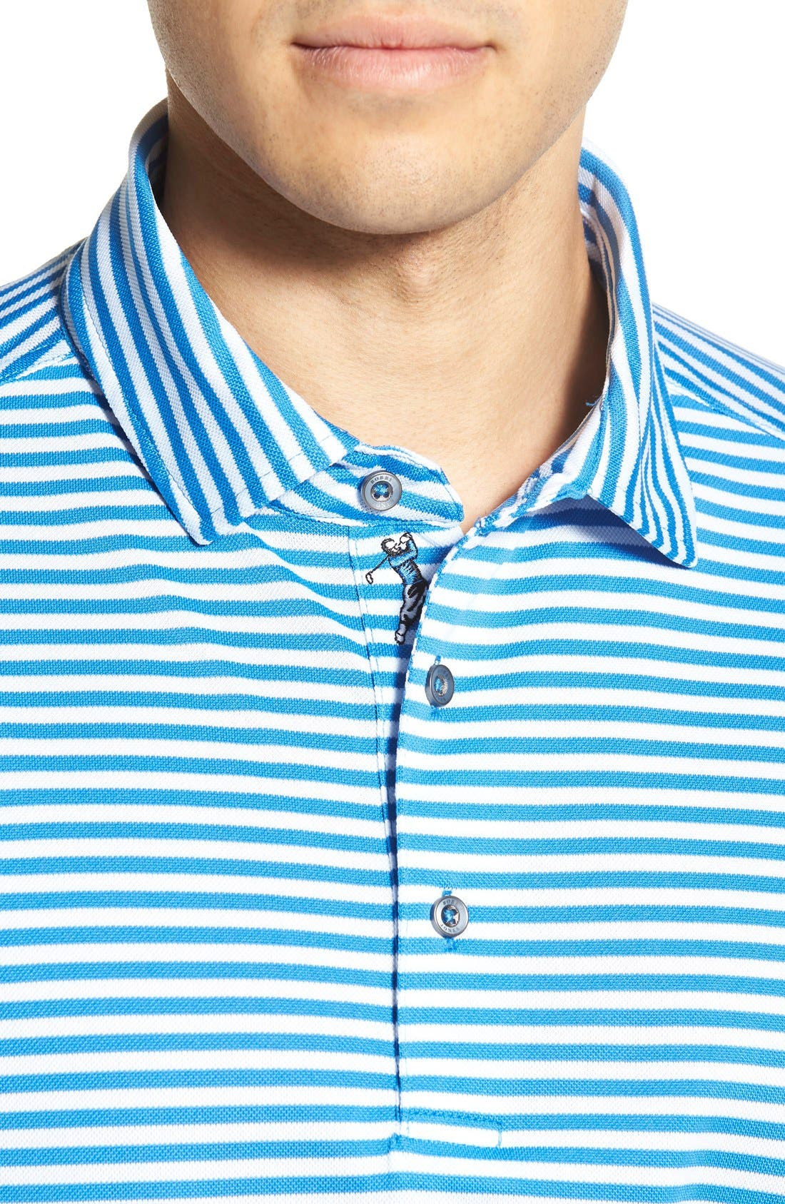 XH2O Feed Stripe Stretch Golf Polo,                             Alternate thumbnail 71, color,