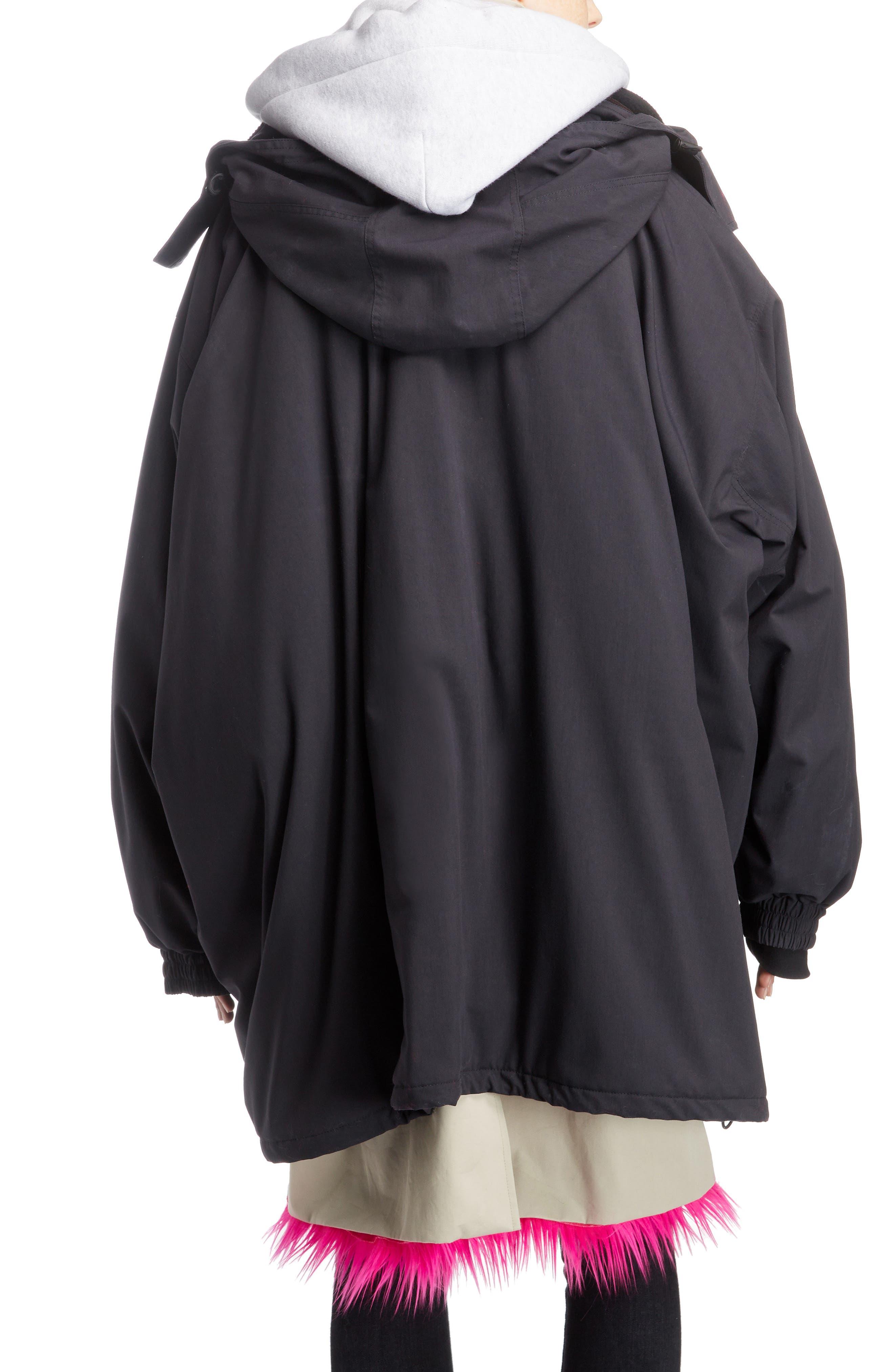 Layered Coat,                             Alternate thumbnail 2, color,                             1000-BLACK