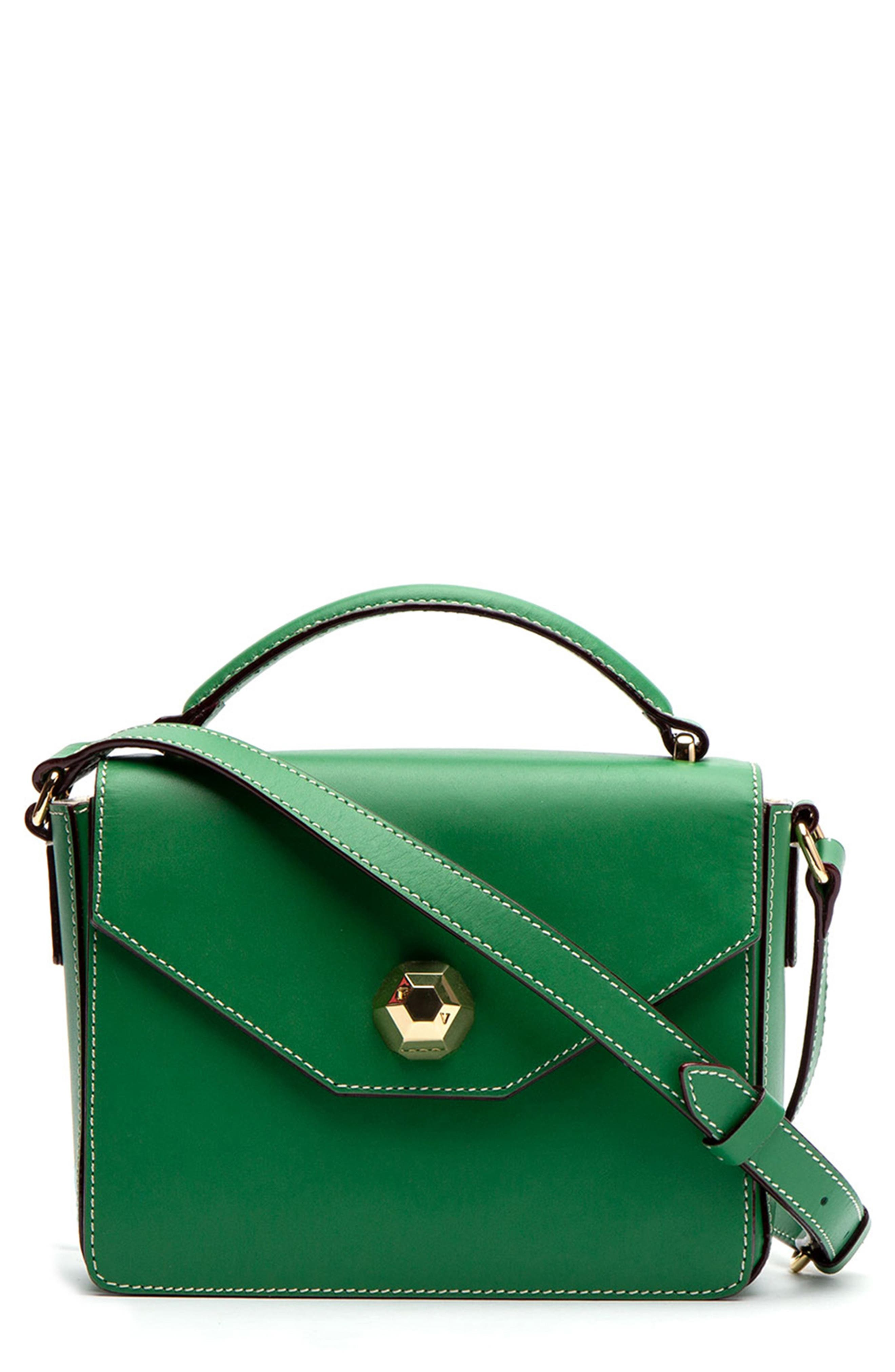 FRANCES VALENTINE Mini Midge Leather Crossbody Bag - Green in Green Ray